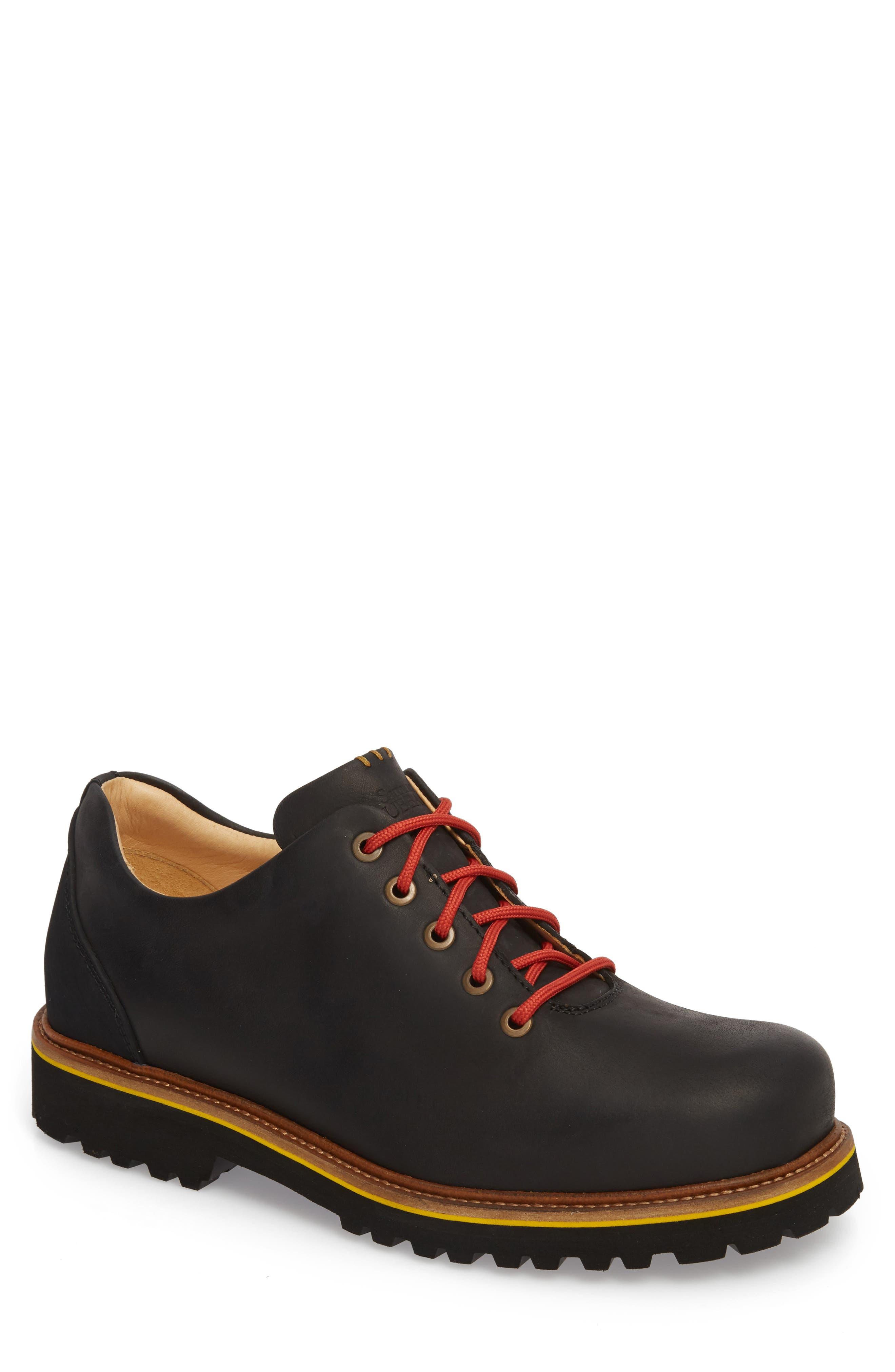 Fresh Plain Toe Oxford,                             Main thumbnail 1, color,                             BLACK WAXED LEATHER