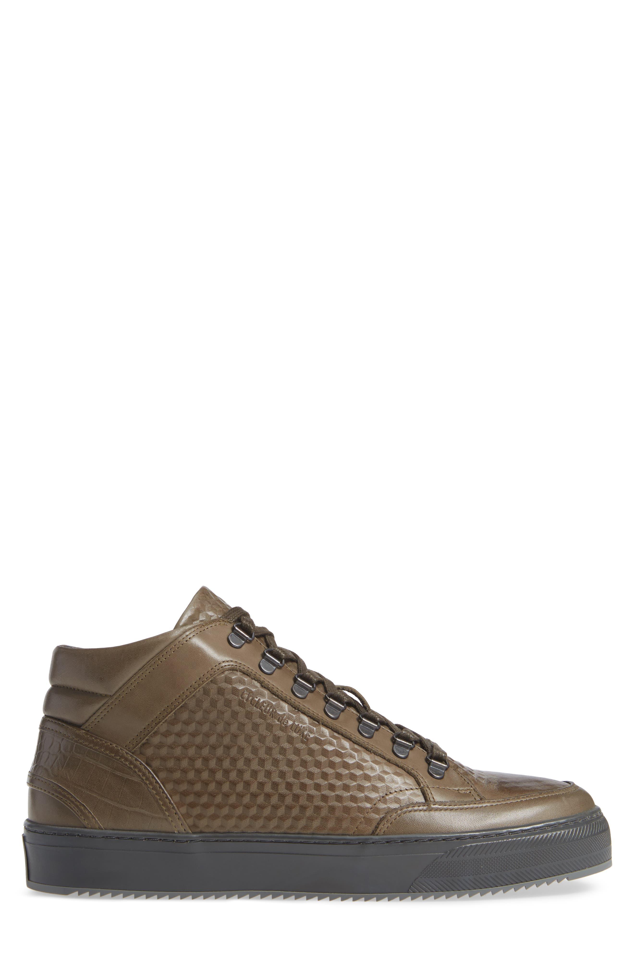 Houma Hooks Sneaker,                             Alternate thumbnail 3, color,                             MILITARY GREEN