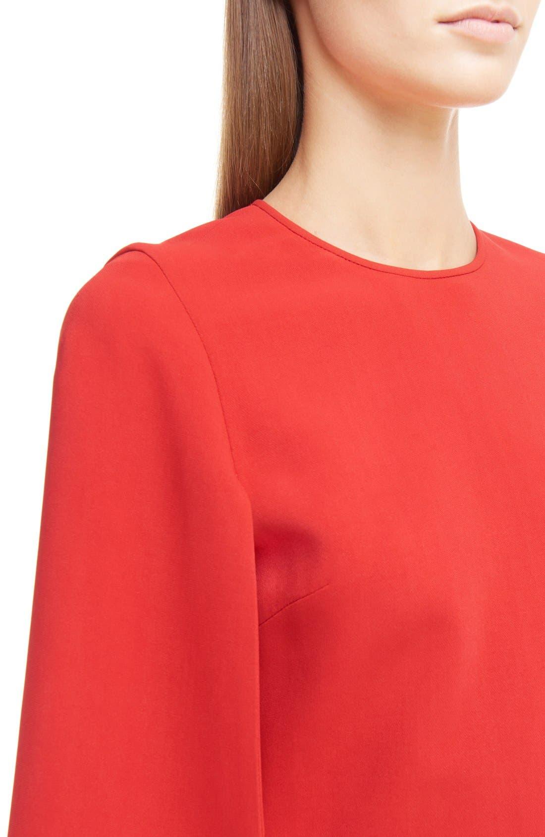 GIVENCHY,                             Cape Sleeve Dress,                             Alternate thumbnail 5, color,                             600