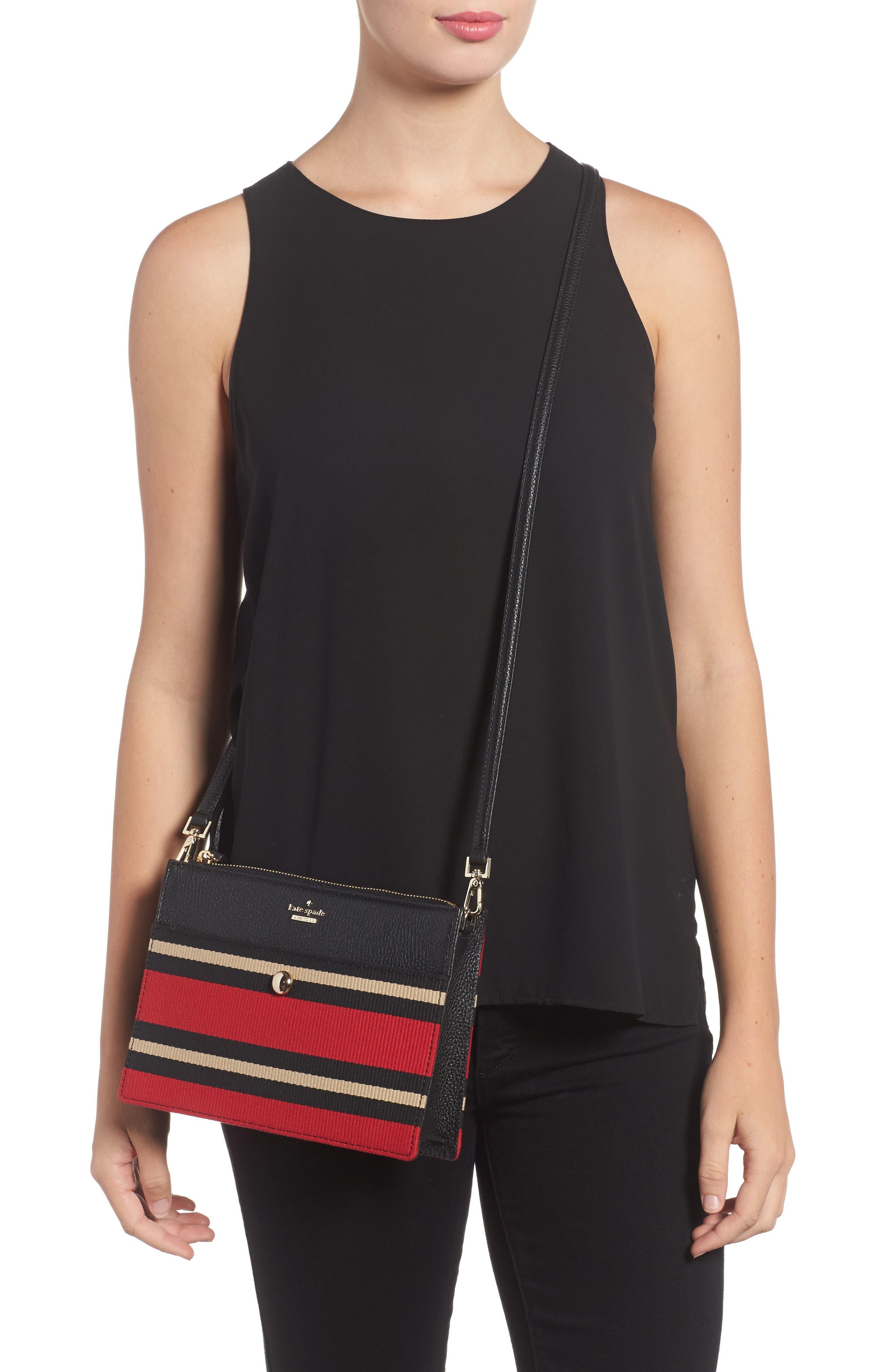 steward street clarise grosgrain stripe shoulder bag,                             Alternate thumbnail 2, color,                             600