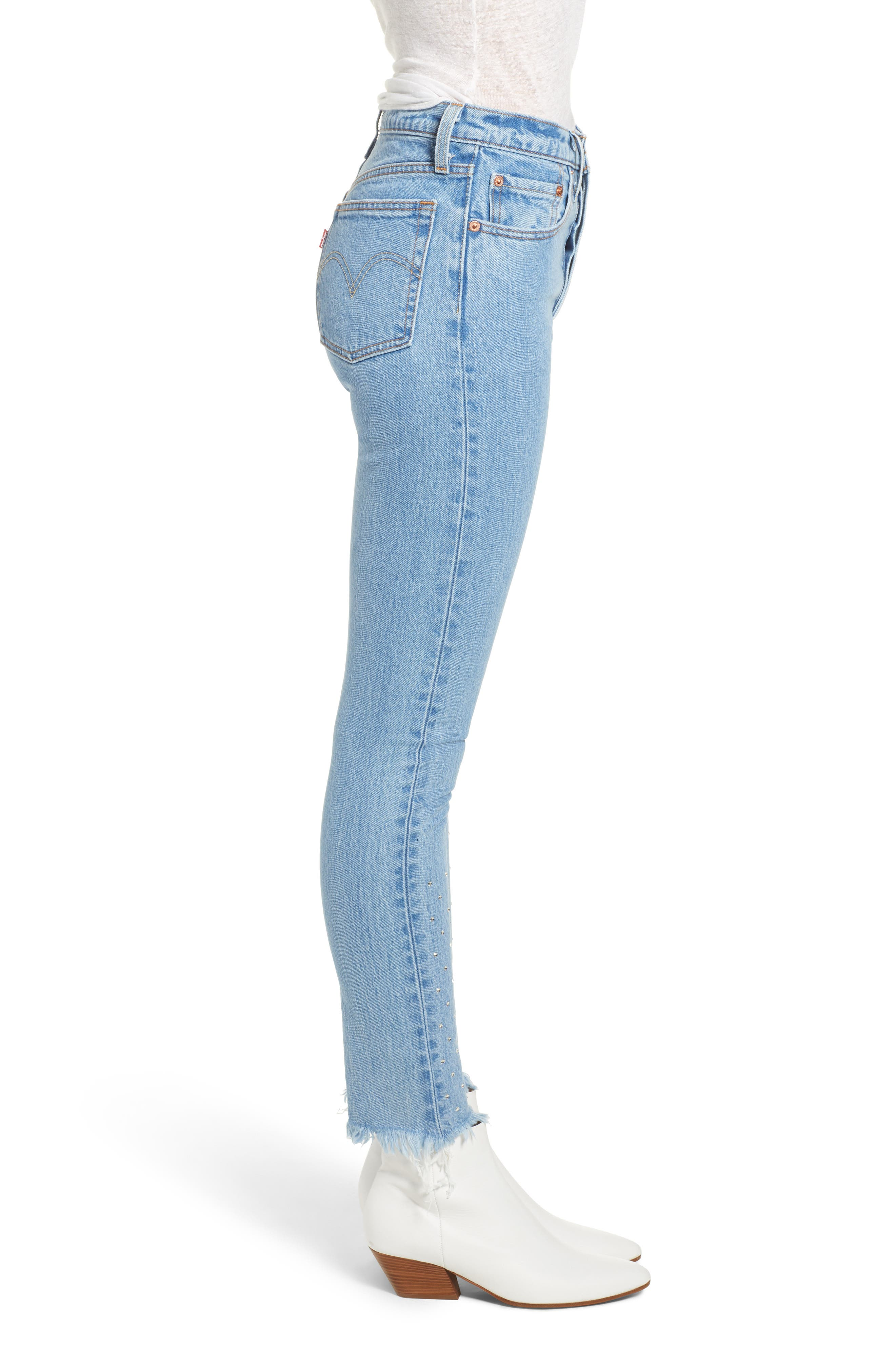 501<sup>®</sup> High Waist Skinny Jeans,                             Alternate thumbnail 3, color,                             420