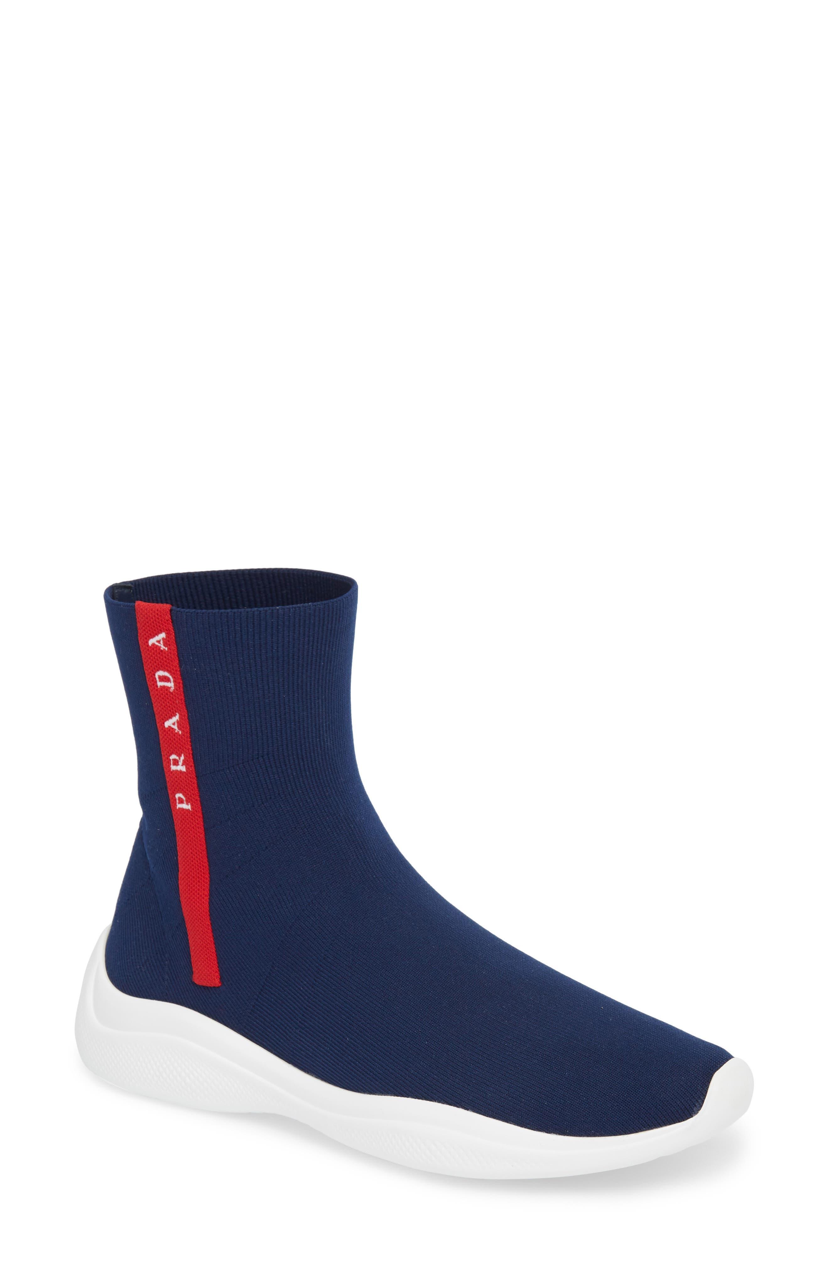 Logo Band Sock Sneaker,                             Main thumbnail 1, color,                             ROYAL BLUE