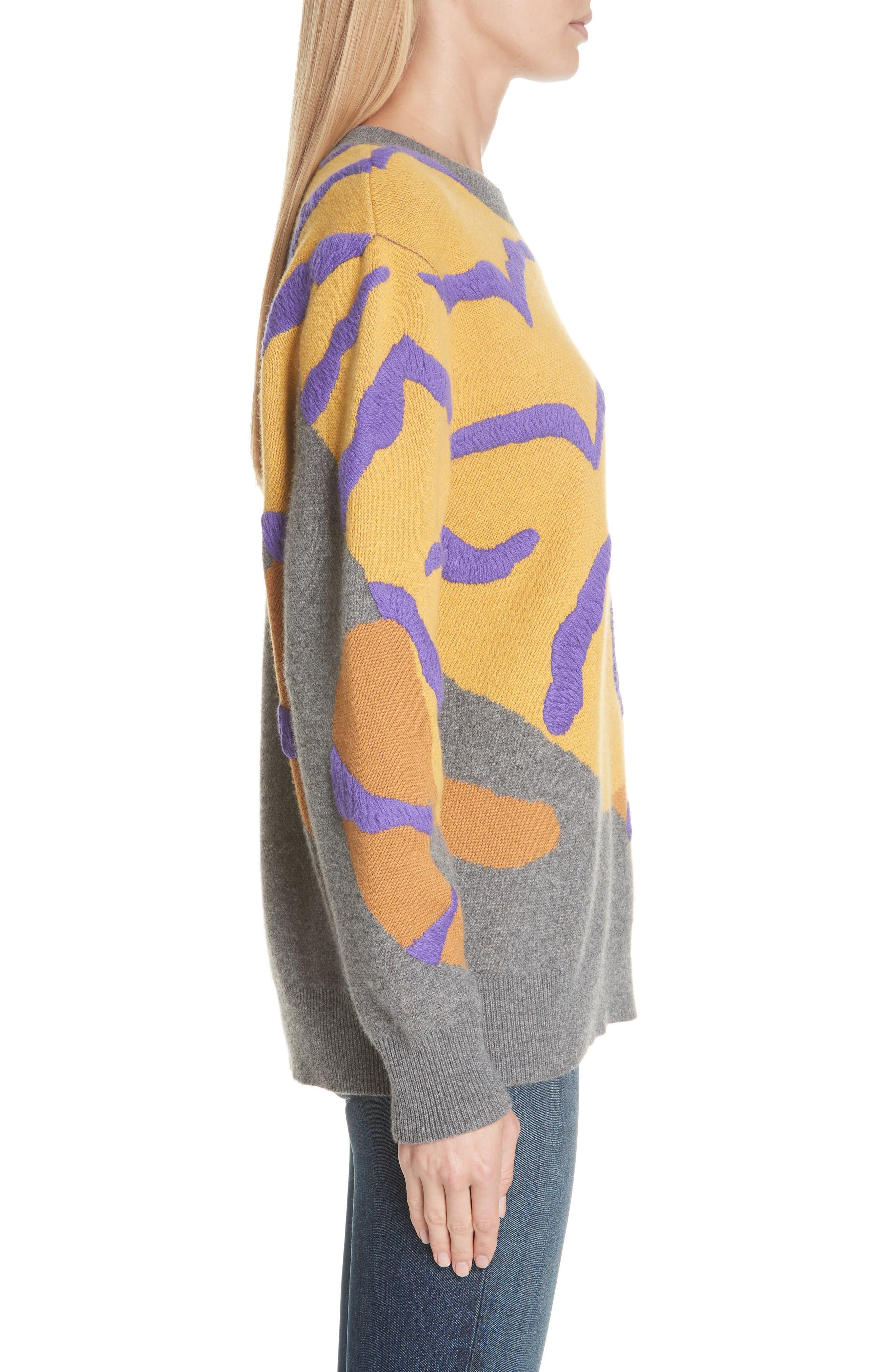 RAG & BONE,                             Tiger Cashmere Sweater,                             Alternate thumbnail 3, color,                             CHARCOAL