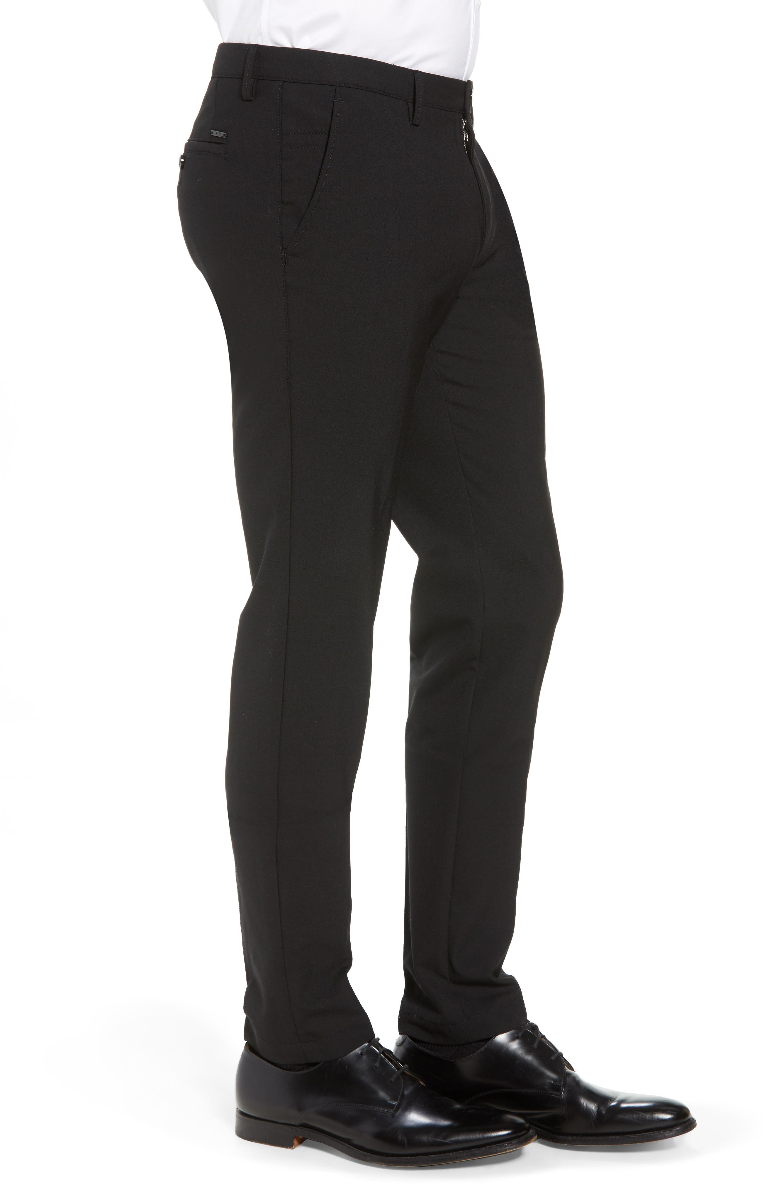 Kaito Slim Fit Trousers,                             Alternate thumbnail 3, color,                             BLACK