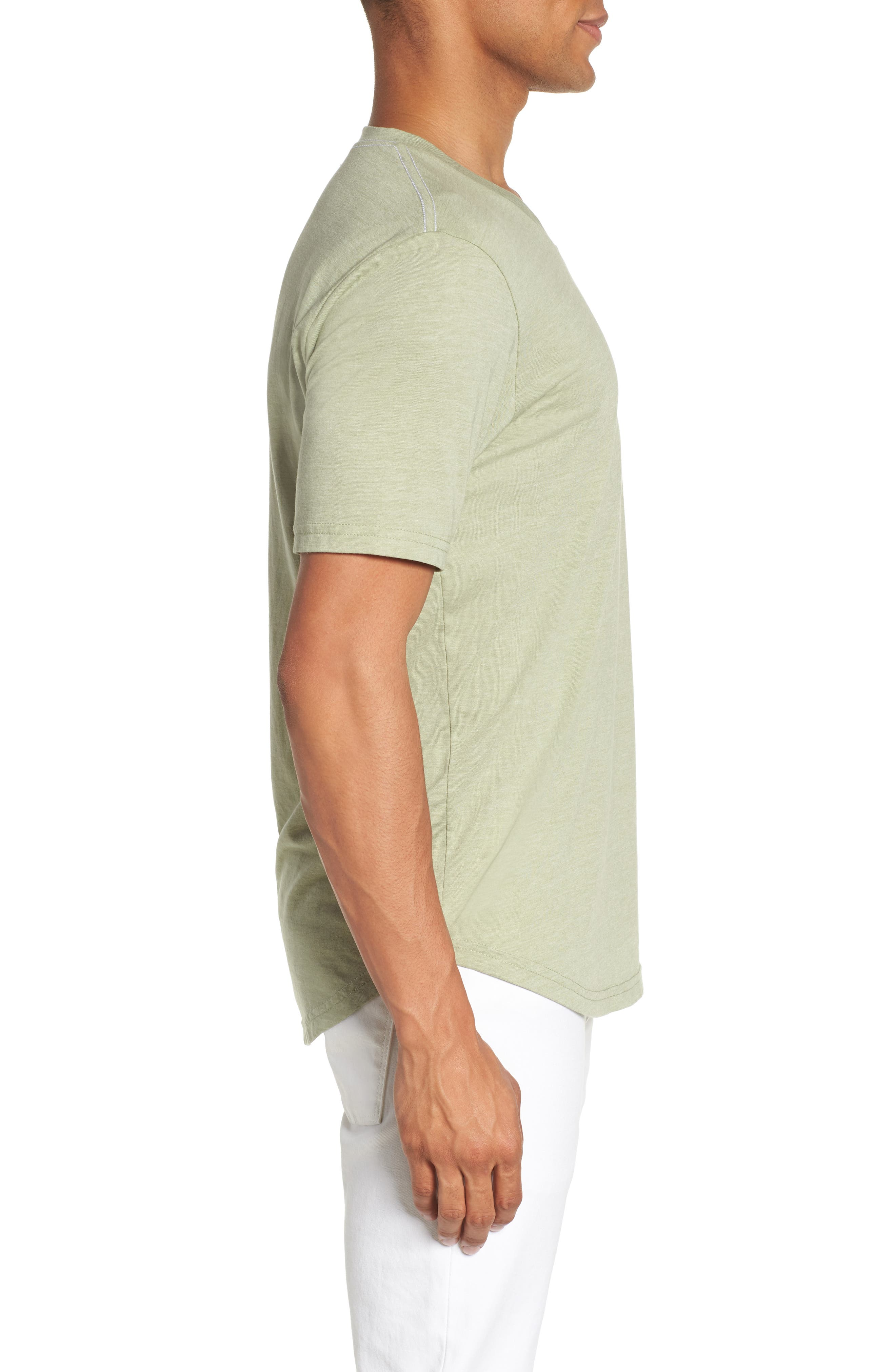 Scallop Triblend V-Neck T-Shirt,                             Alternate thumbnail 50, color,
