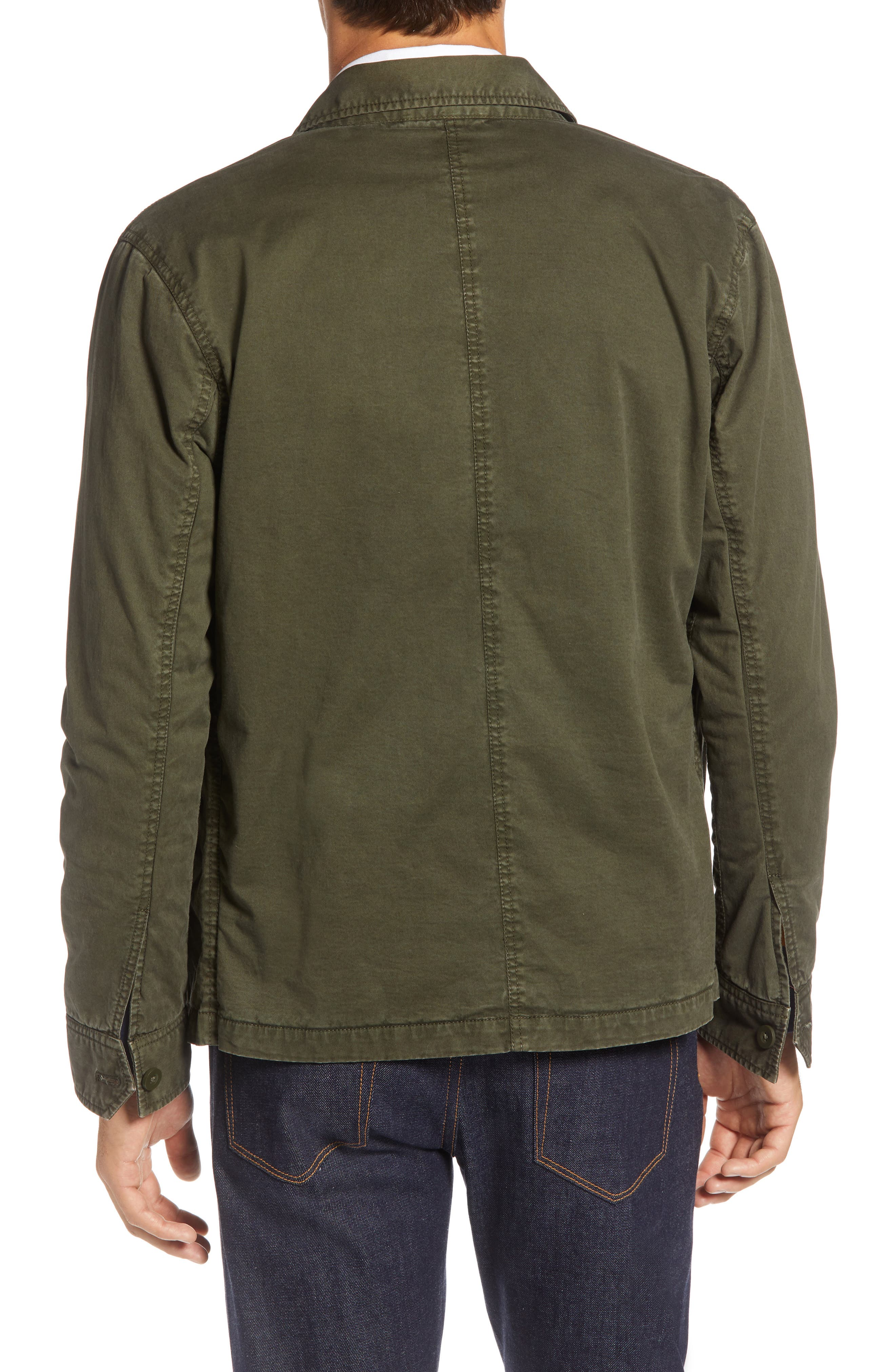 Regular Fit Military Jacket,                             Alternate thumbnail 2, color,                             GREEN FOREST
