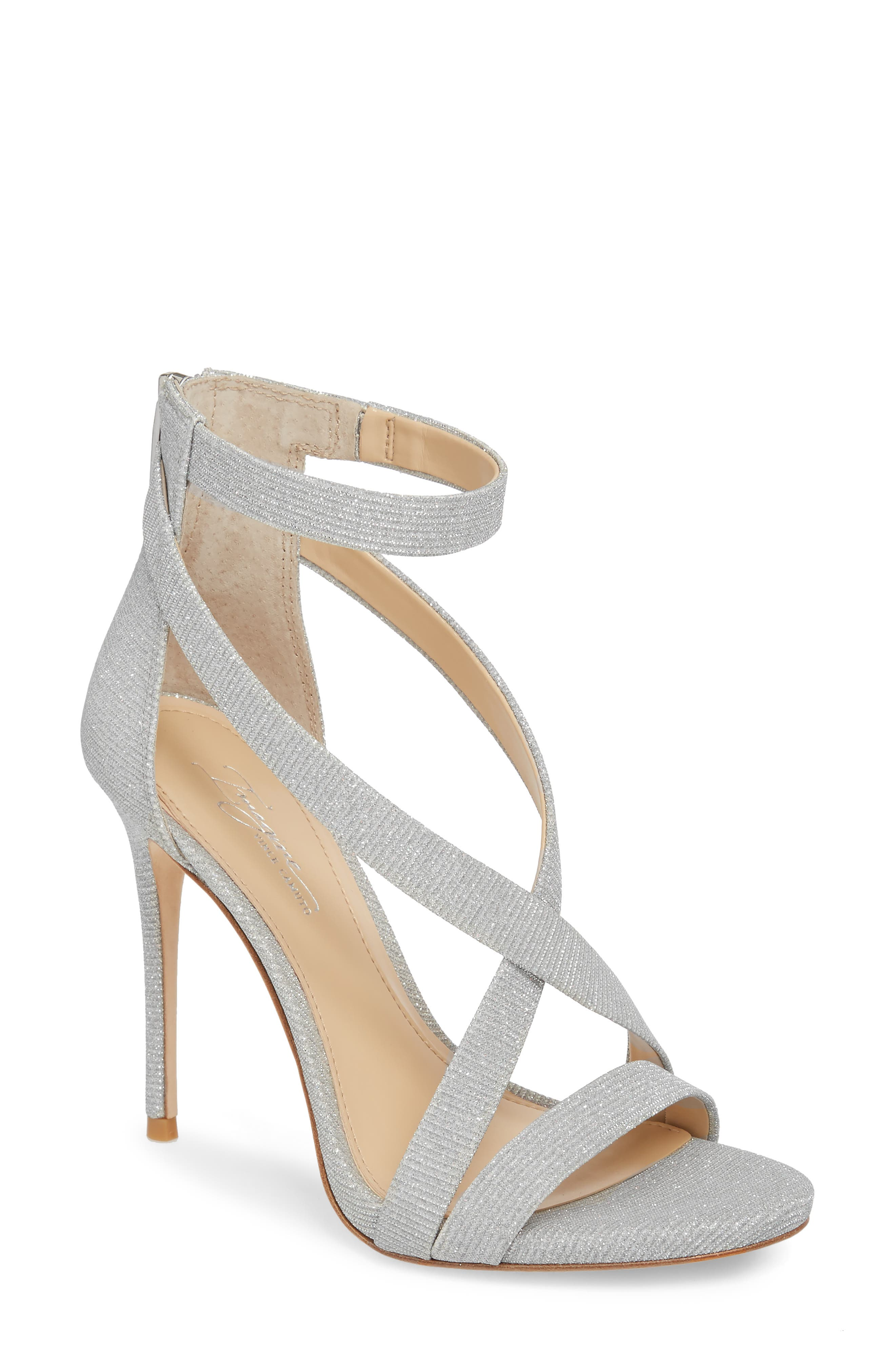 Imagine Vince Camuto 'Devin' Sandal,                             Main thumbnail 1, color,                             PLATINUM FABRIC