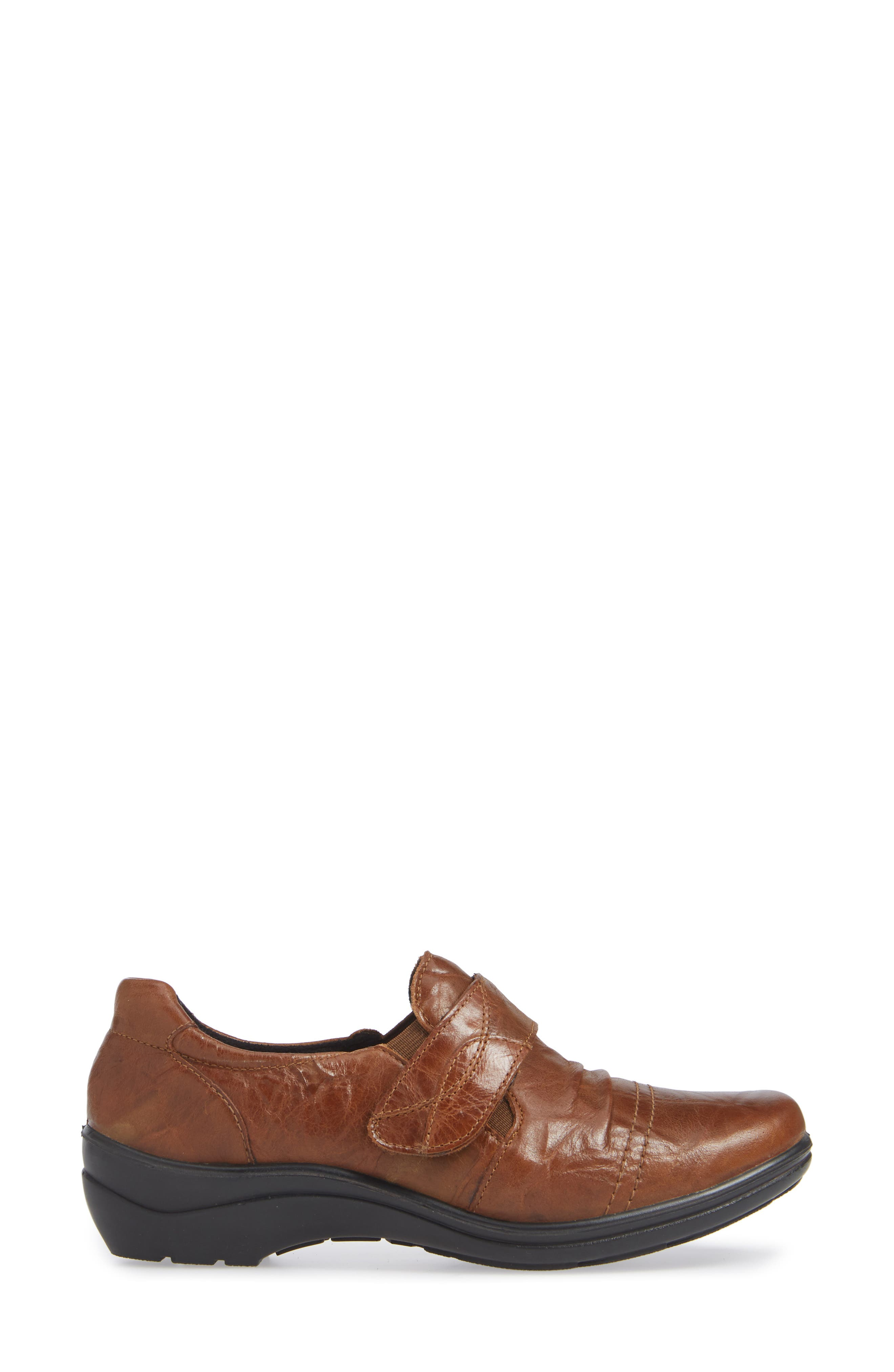 Cassie 43 Loafer,                             Alternate thumbnail 3, color,                             BROWN LEATHER