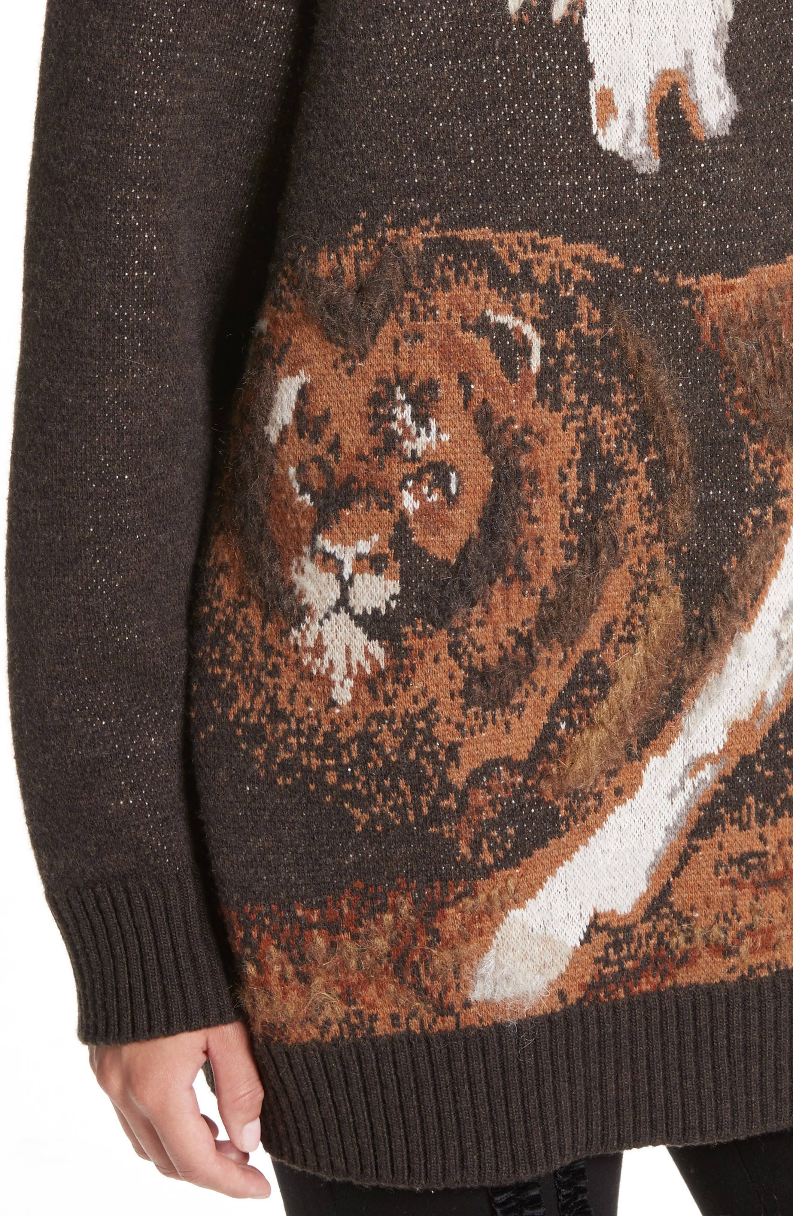Horse Intarsia Sweater,                             Alternate thumbnail 4, color,                             200
