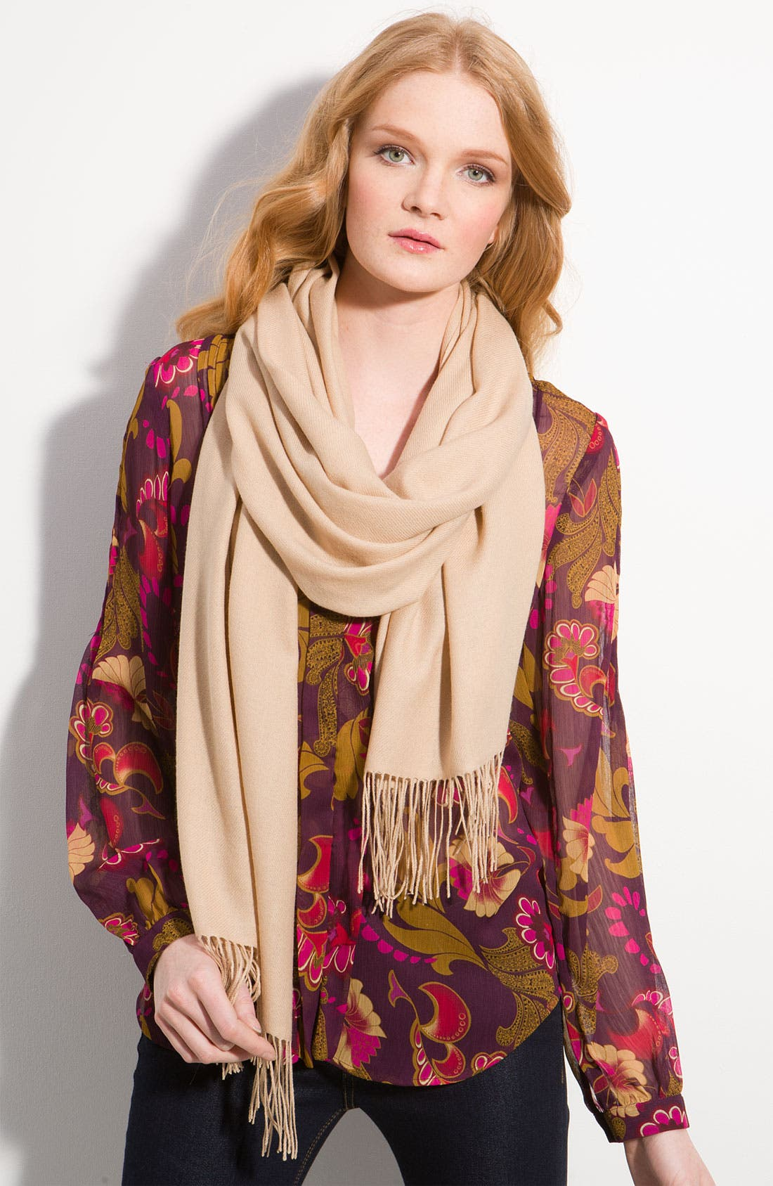 Tissue Weight Wool & Cashmere Wrap,                             Main thumbnail 30, color,
