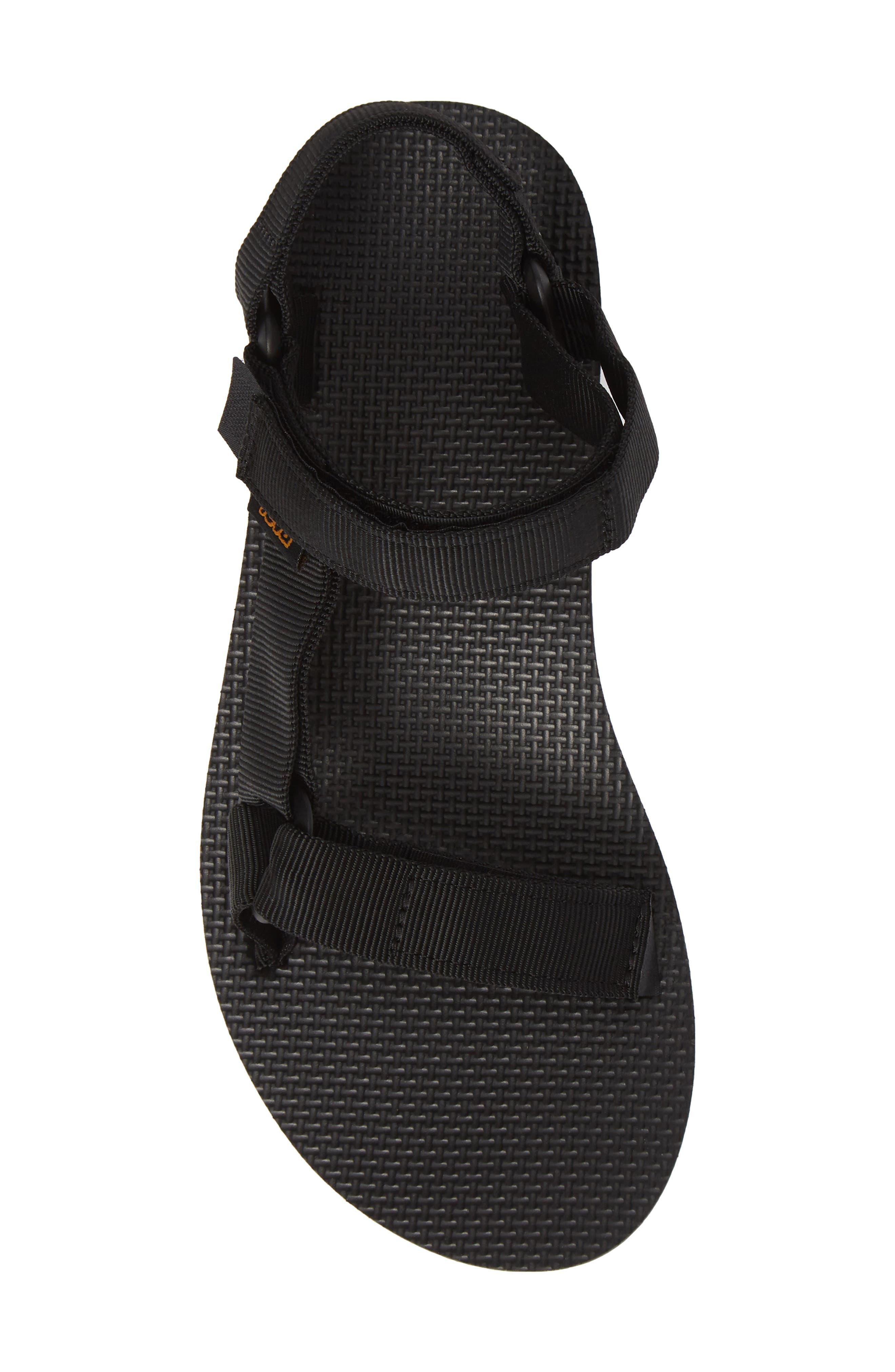 Midform Universal Geometric Sandal,                             Alternate thumbnail 5, color,                             BLACK FABRIC