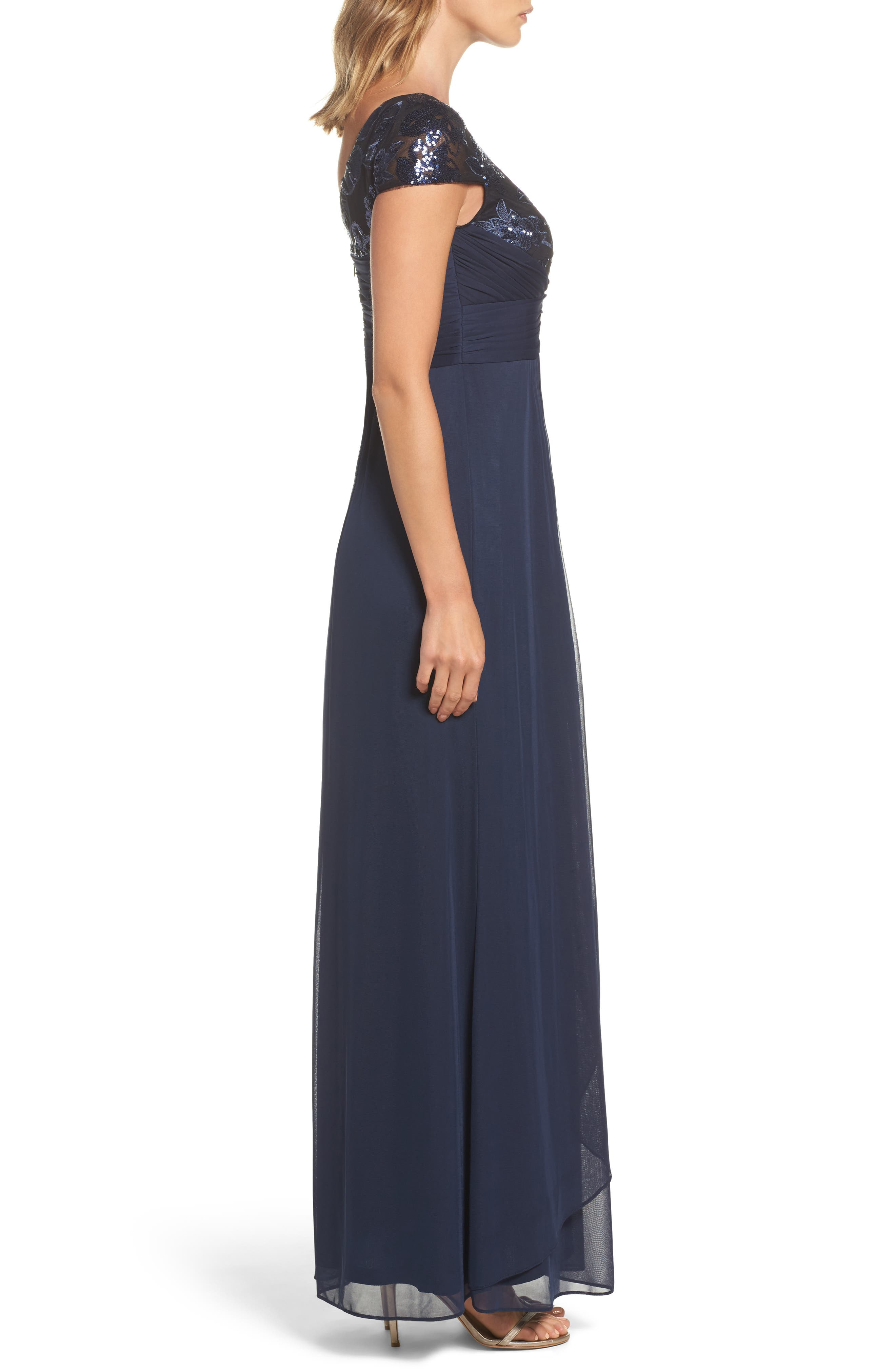 Embellished Gown,                             Alternate thumbnail 3, color,                             412