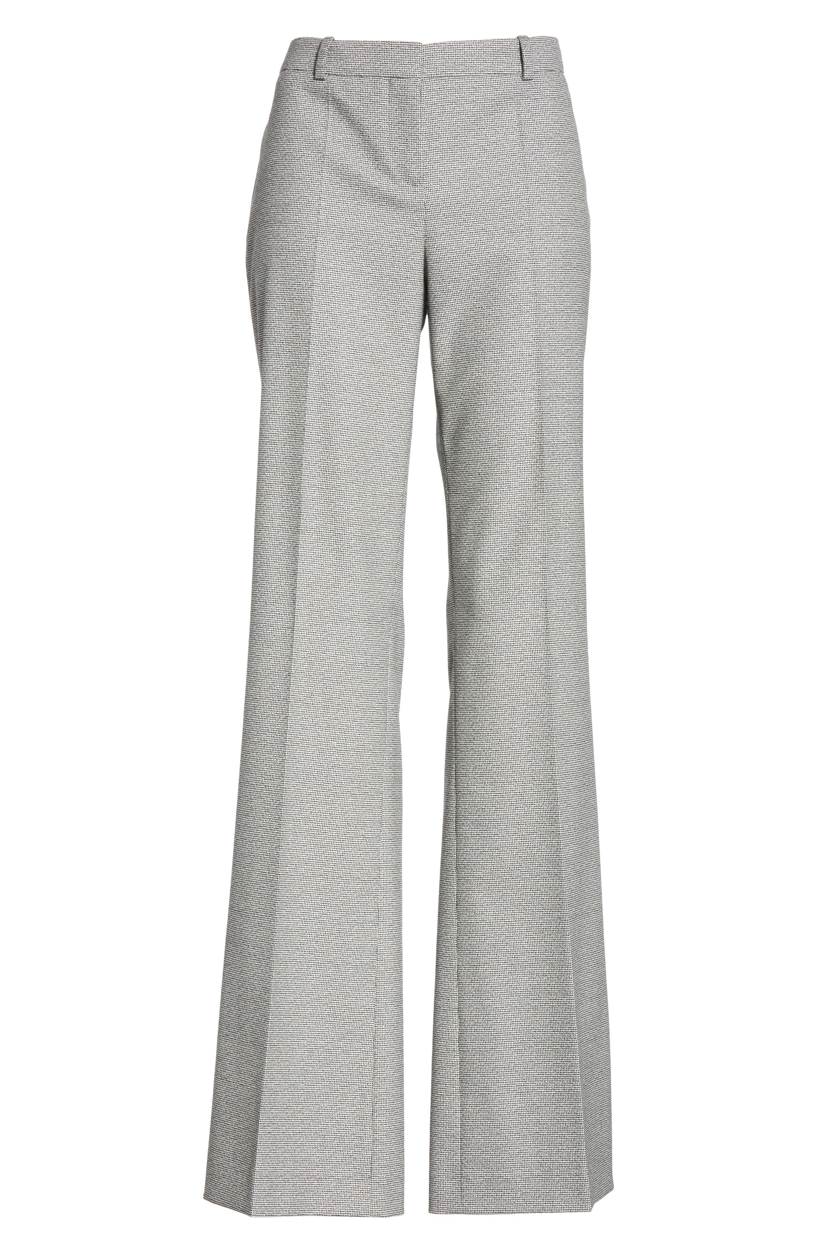 Tulea Blurred Optic Wool Suiting Trousers,                             Alternate thumbnail 6, color,                             BLACK FANTASY