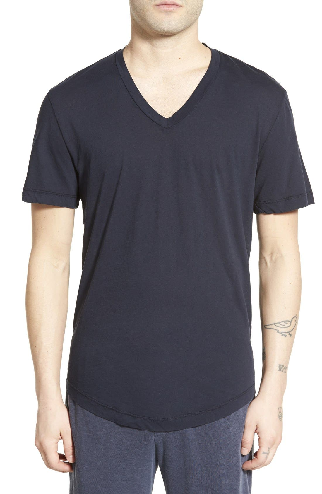 'Clear Jersey' Mélange V-Neck T-Shirt,                             Main thumbnail 8, color,