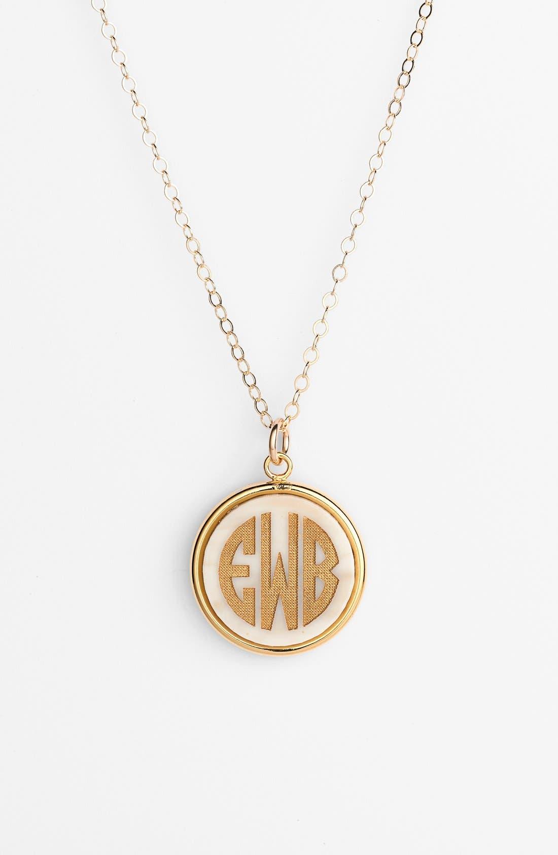 'Vineyard' Personalized Monogram Pendant Necklace,                             Main thumbnail 1, color,