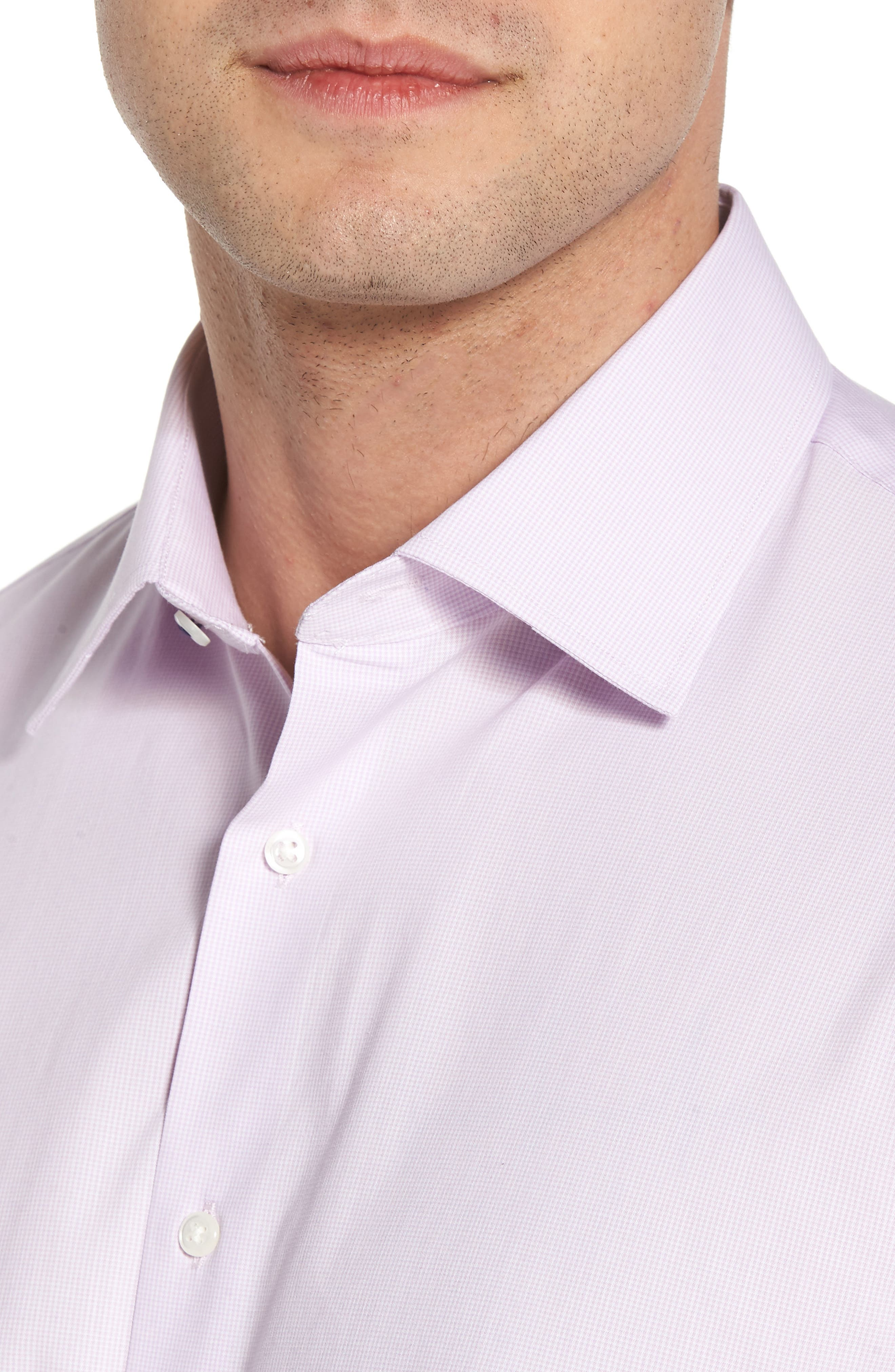 Tech-Smart Traditional Fit Stretch Microdot Dress Shirt,                             Alternate thumbnail 4, color,