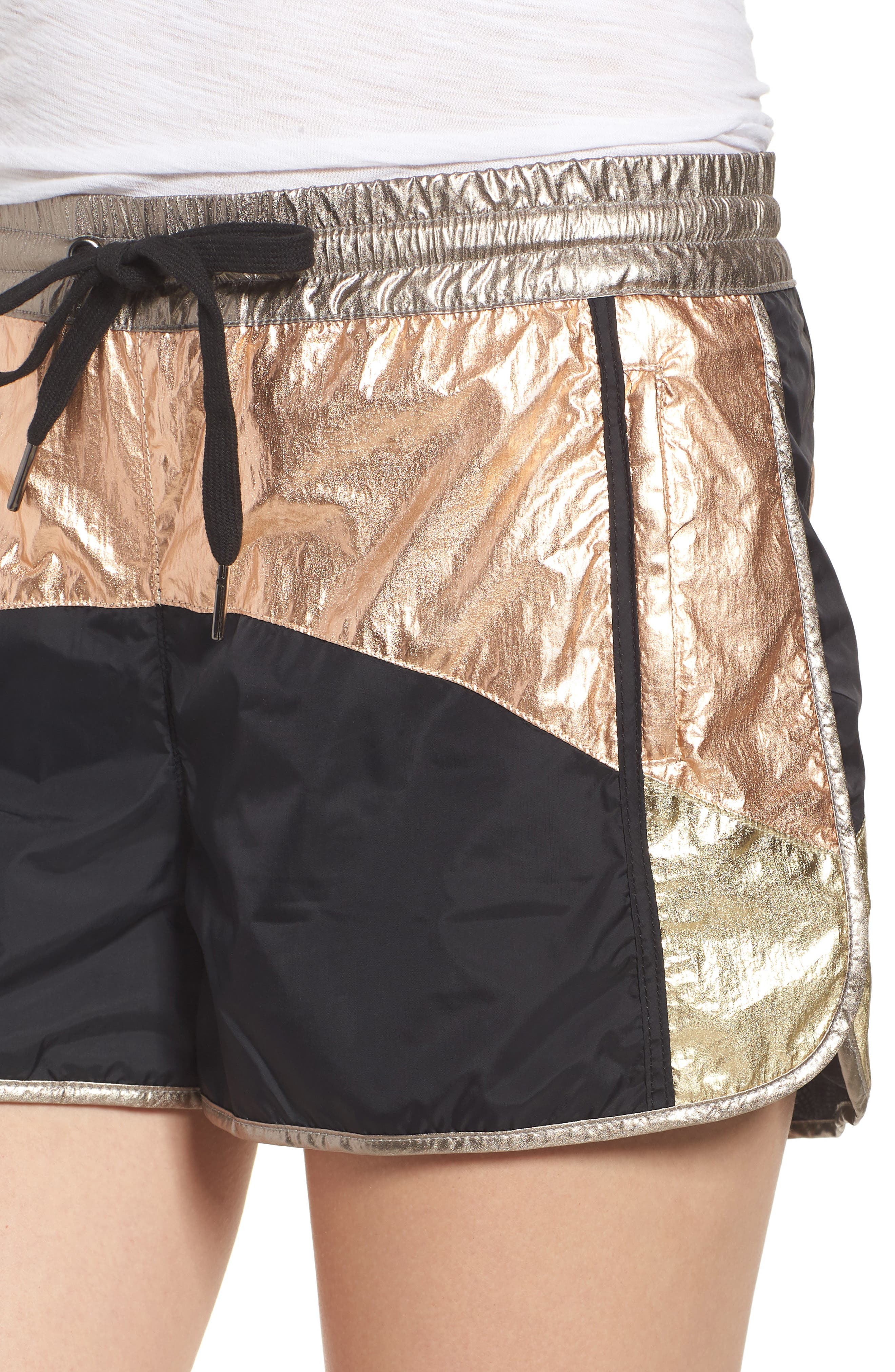 Colorblock Shorts,                             Alternate thumbnail 4, color,                             BLACK