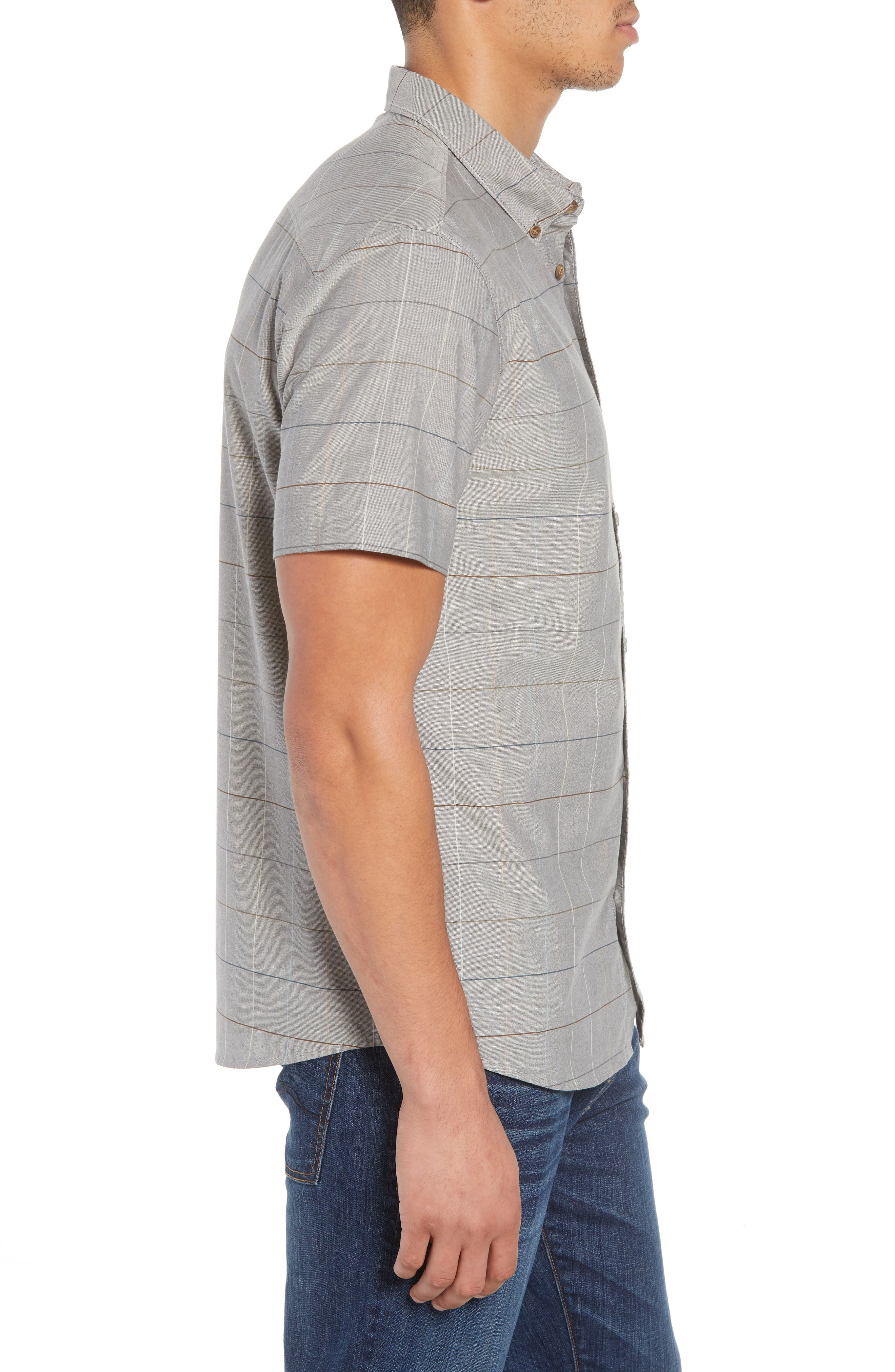Gridlock Check Woven Shirt,                             Alternate thumbnail 3, color,                             020