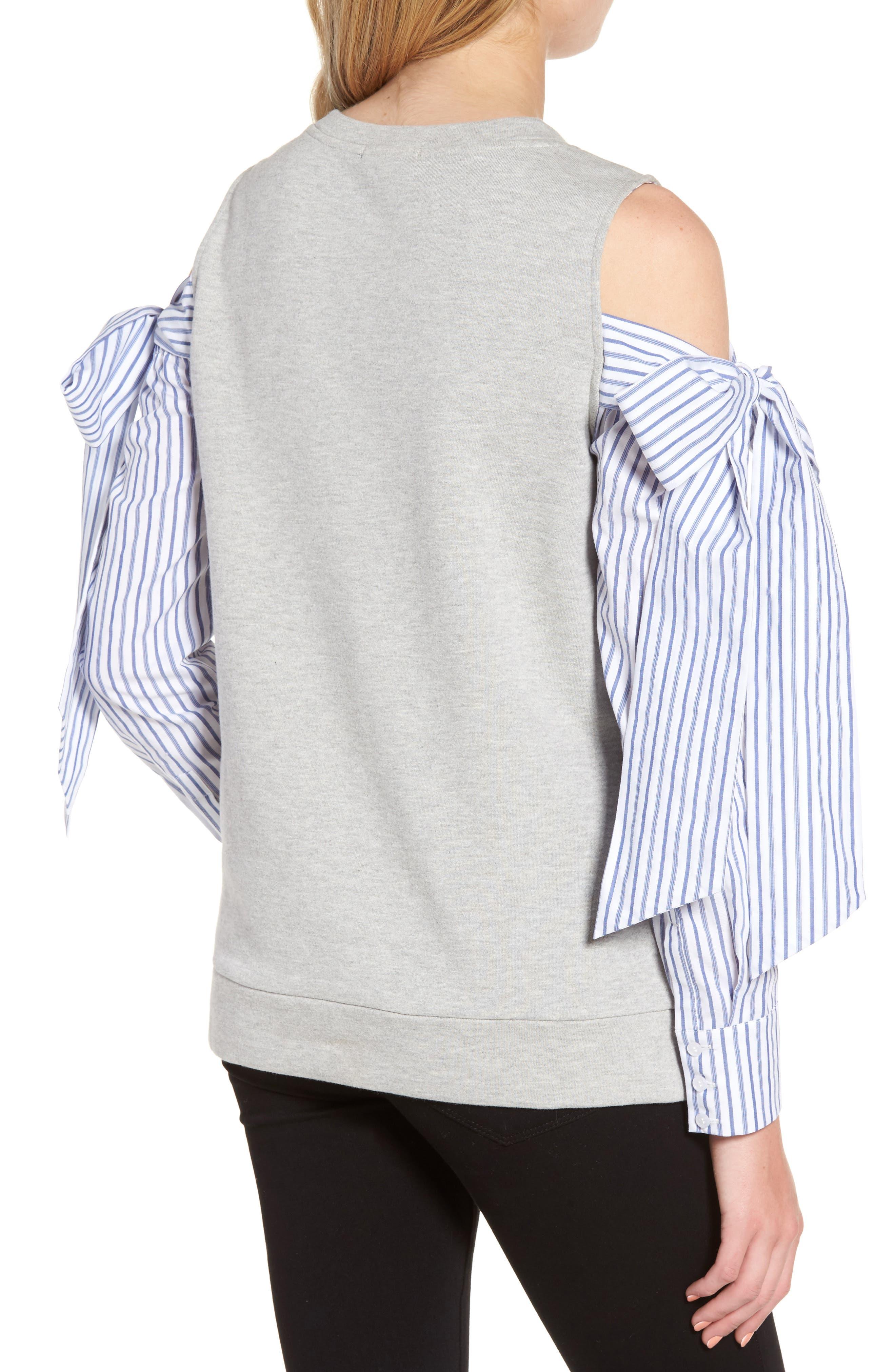 Cold Shoulder Sweatshirt,                             Alternate thumbnail 2, color,                             030