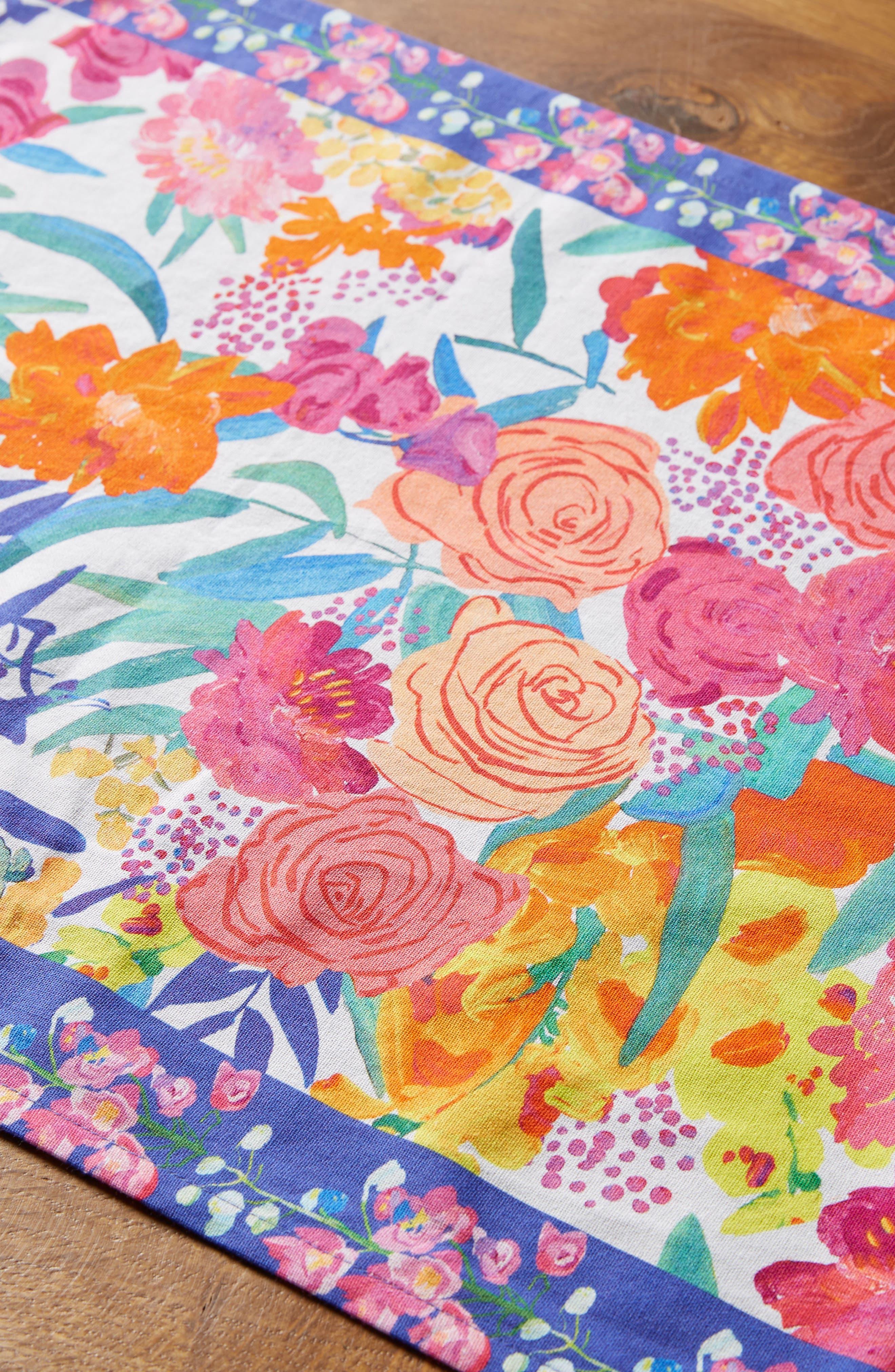Paint + Petals Table Runner,                             Alternate thumbnail 2, color,                             100