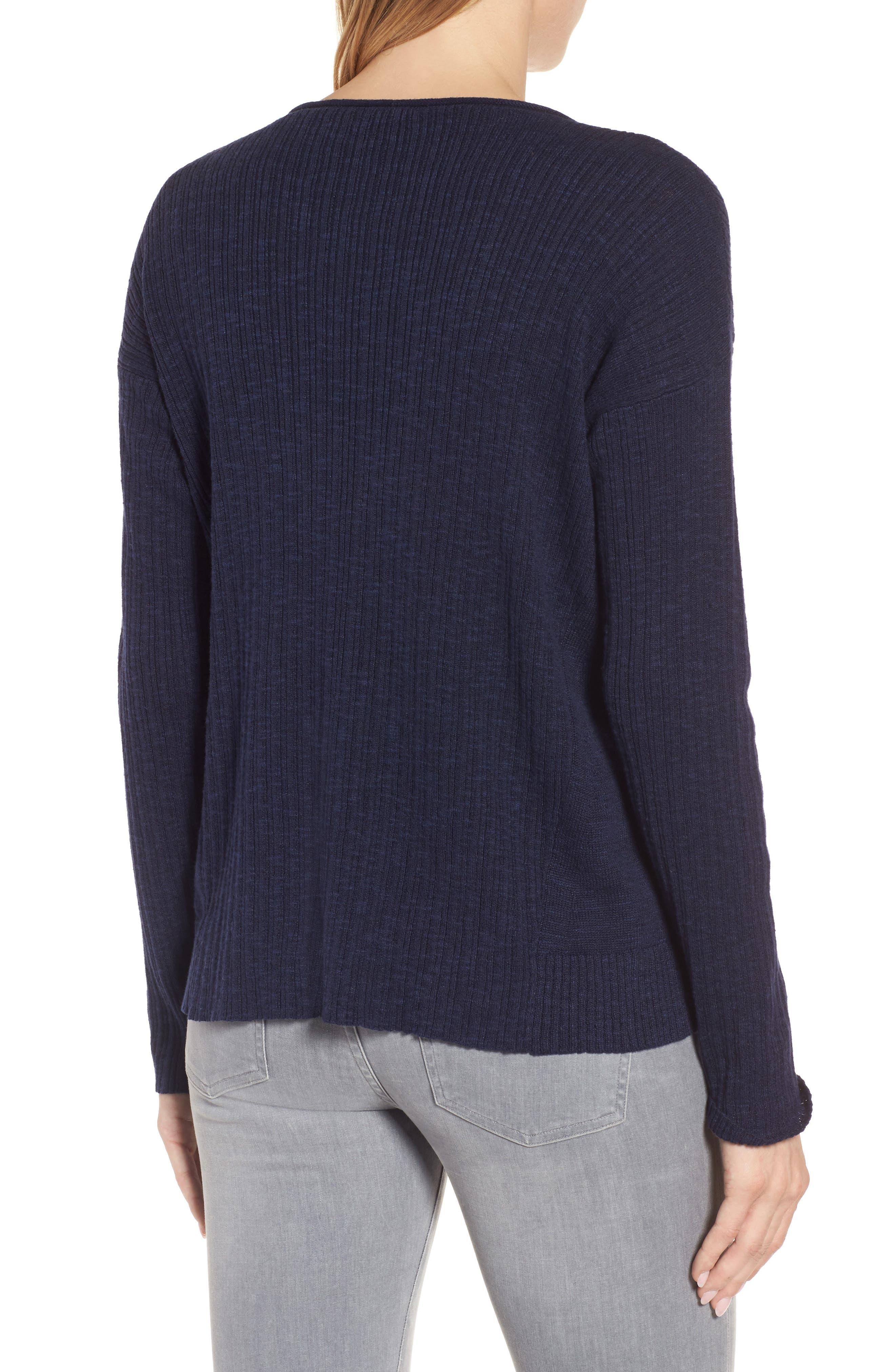 Organic Linen & Cotton Crewneck Sweater,                             Alternate thumbnail 10, color,