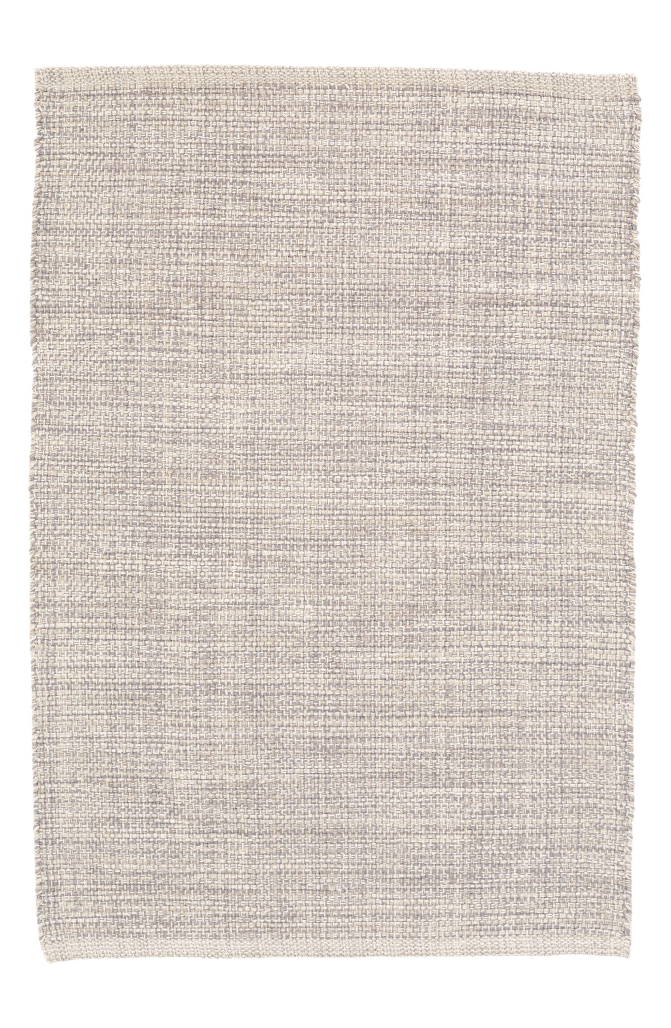 Woven Cotton Rug,                         Main,                         color, GREY