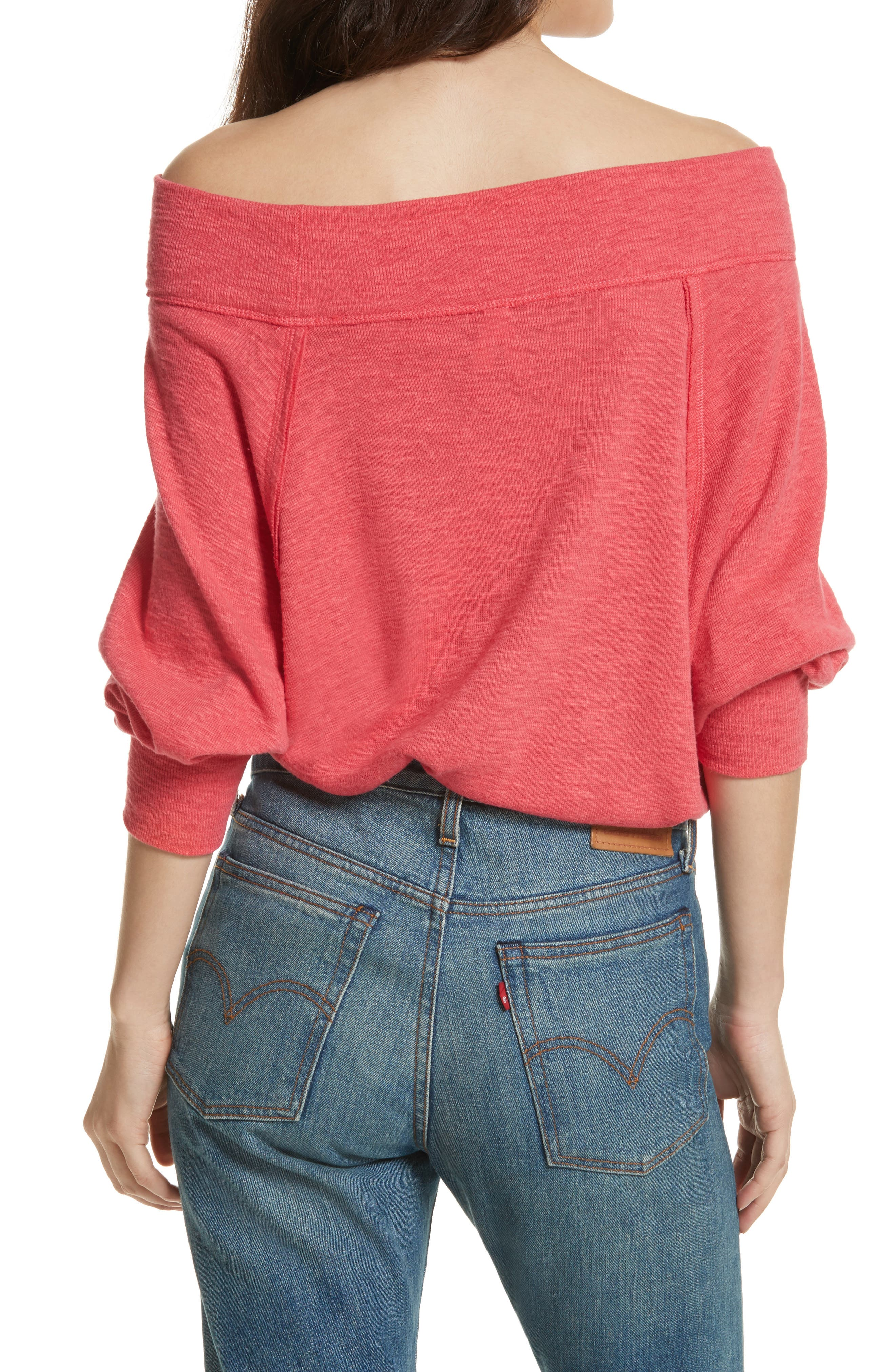 Palisades Off the Shoulder Top,                             Alternate thumbnail 14, color,