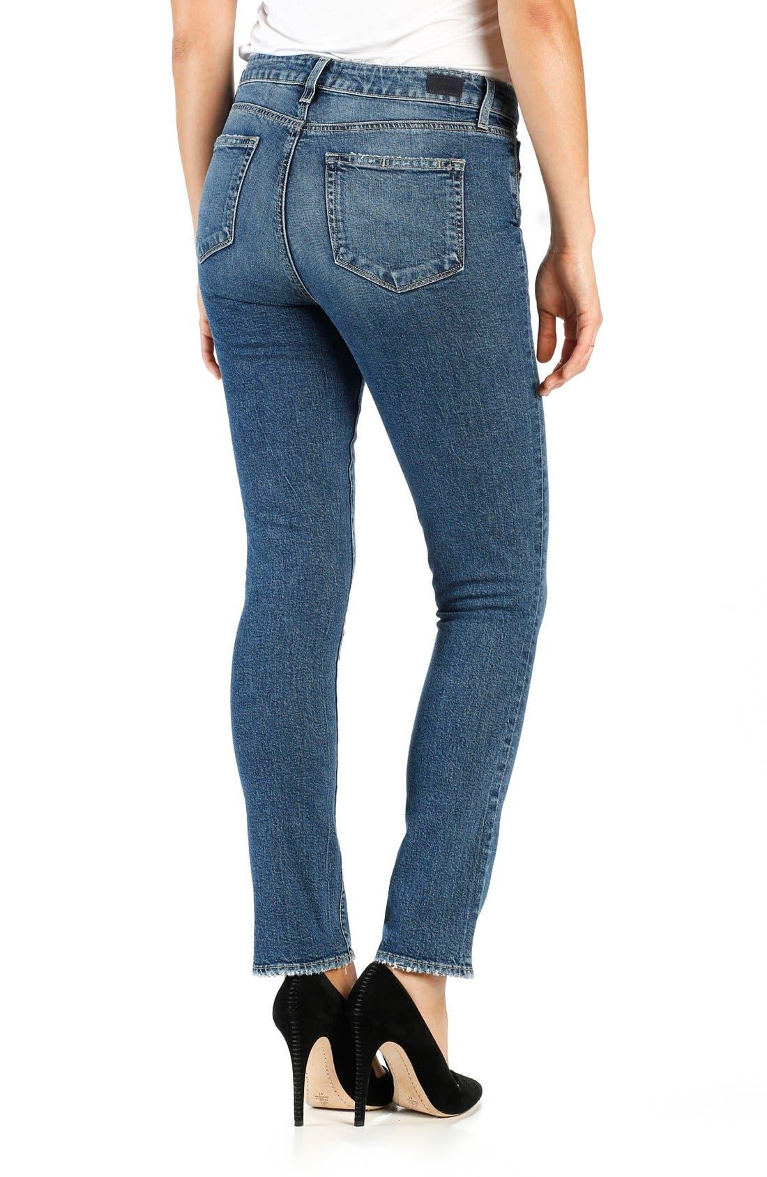 Julia High Waist Straight Leg Jeans,                             Alternate thumbnail 2, color,                             400