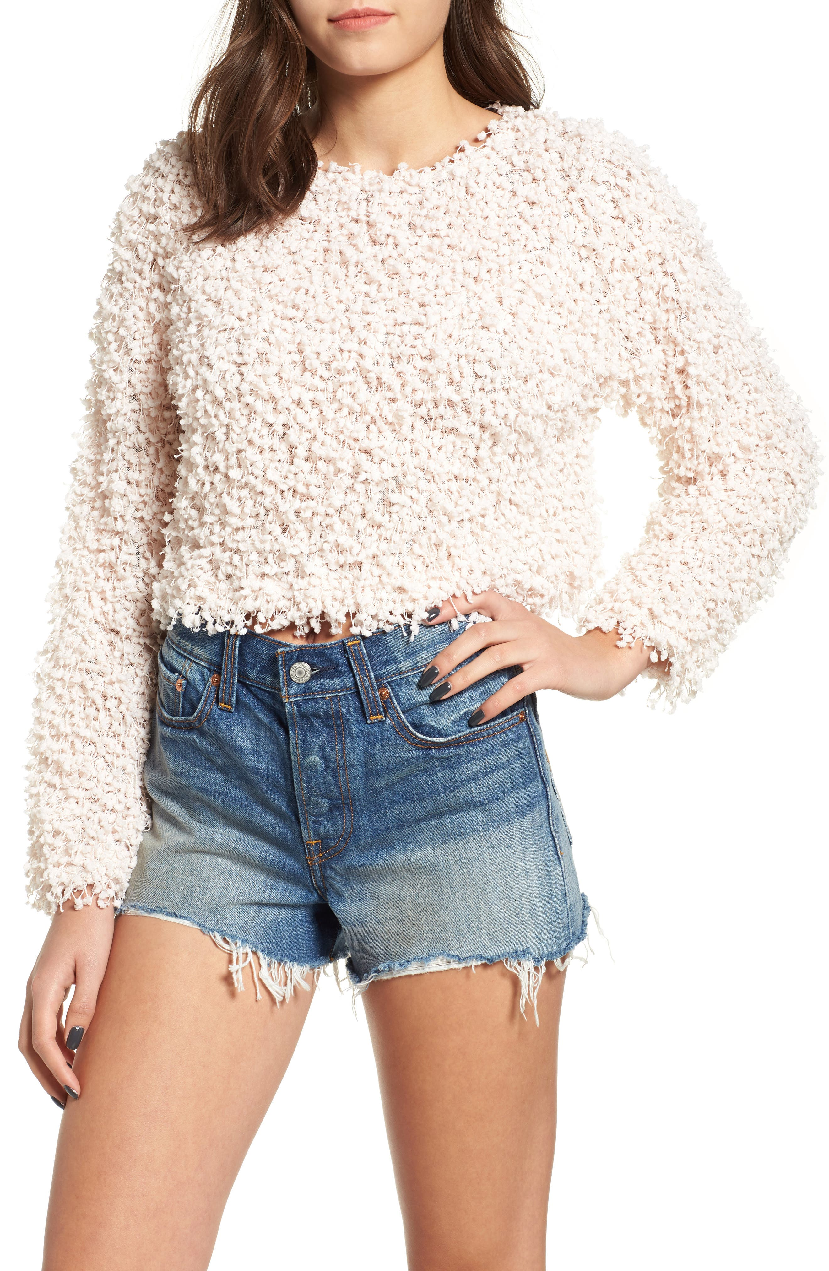 Glorious Crop Sweater,                             Main thumbnail 1, color,                             900