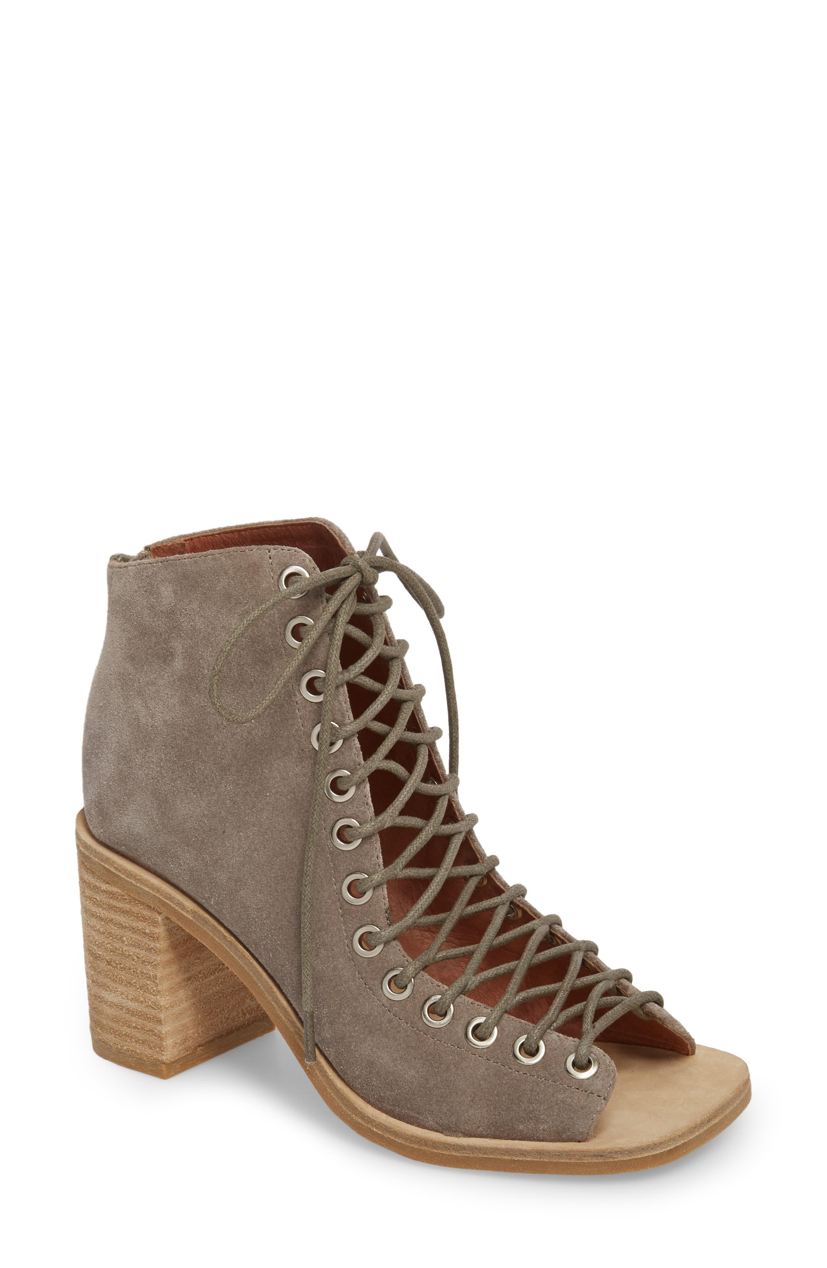 Cors Bootie,                         Main,                         color, TAUPE SUEDE