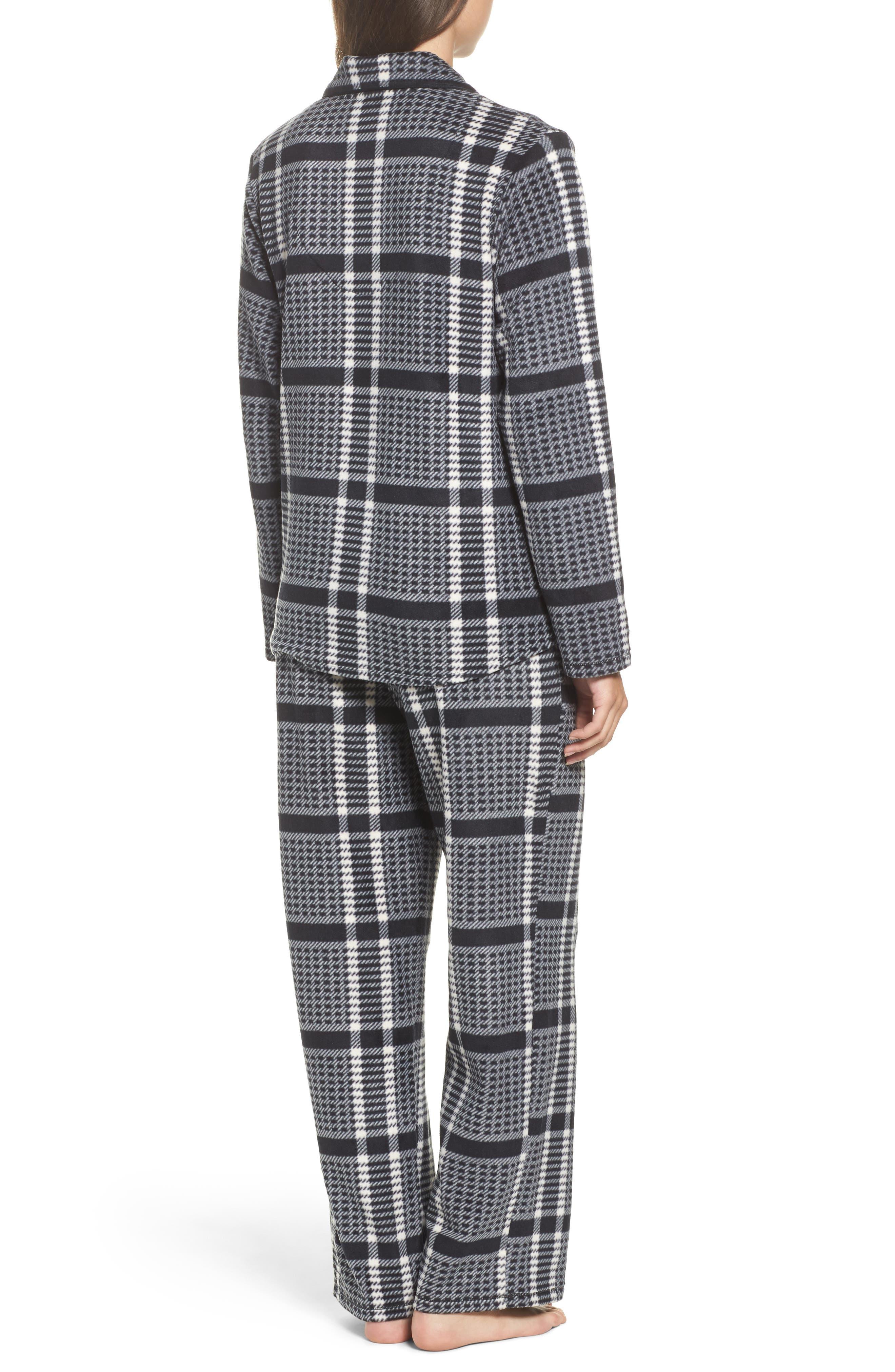 Stretch Fleece Long Pajamas,                             Alternate thumbnail 2, color,                             005