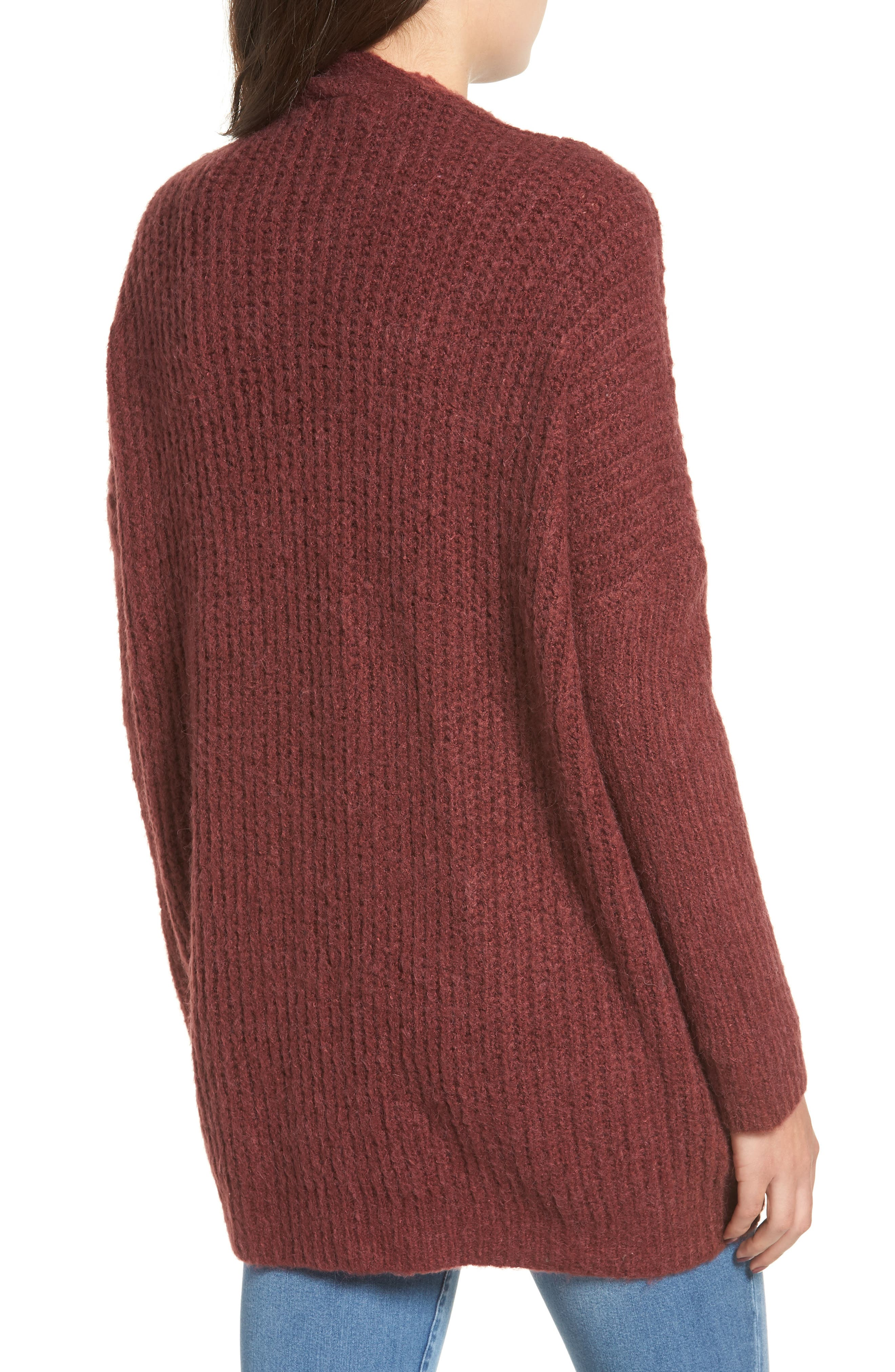 Rib Knit Open Cardigan,                             Alternate thumbnail 2, color,                             650
