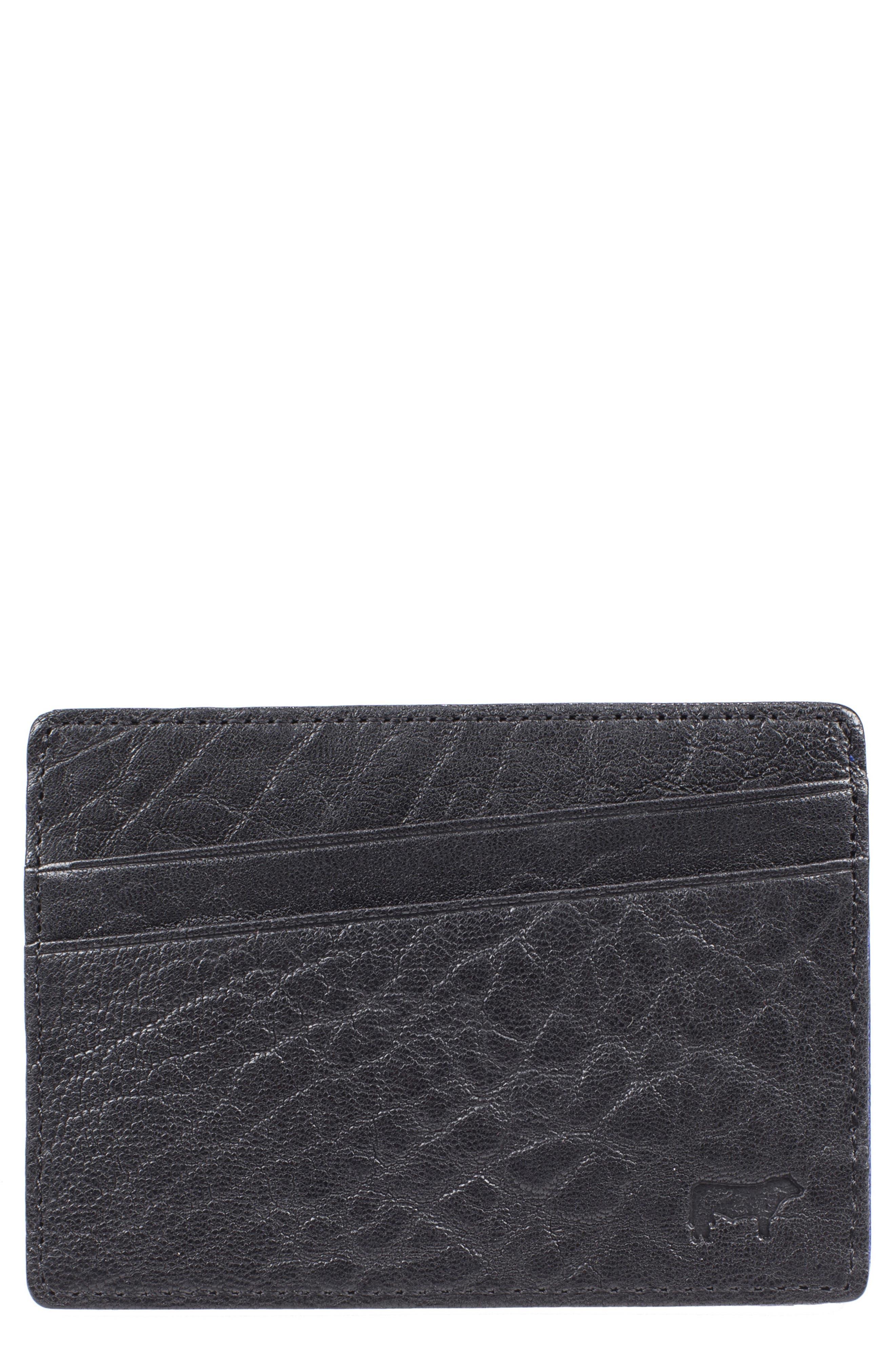 'Quip' Leather Card Case,                             Alternate thumbnail 3, color,                             012