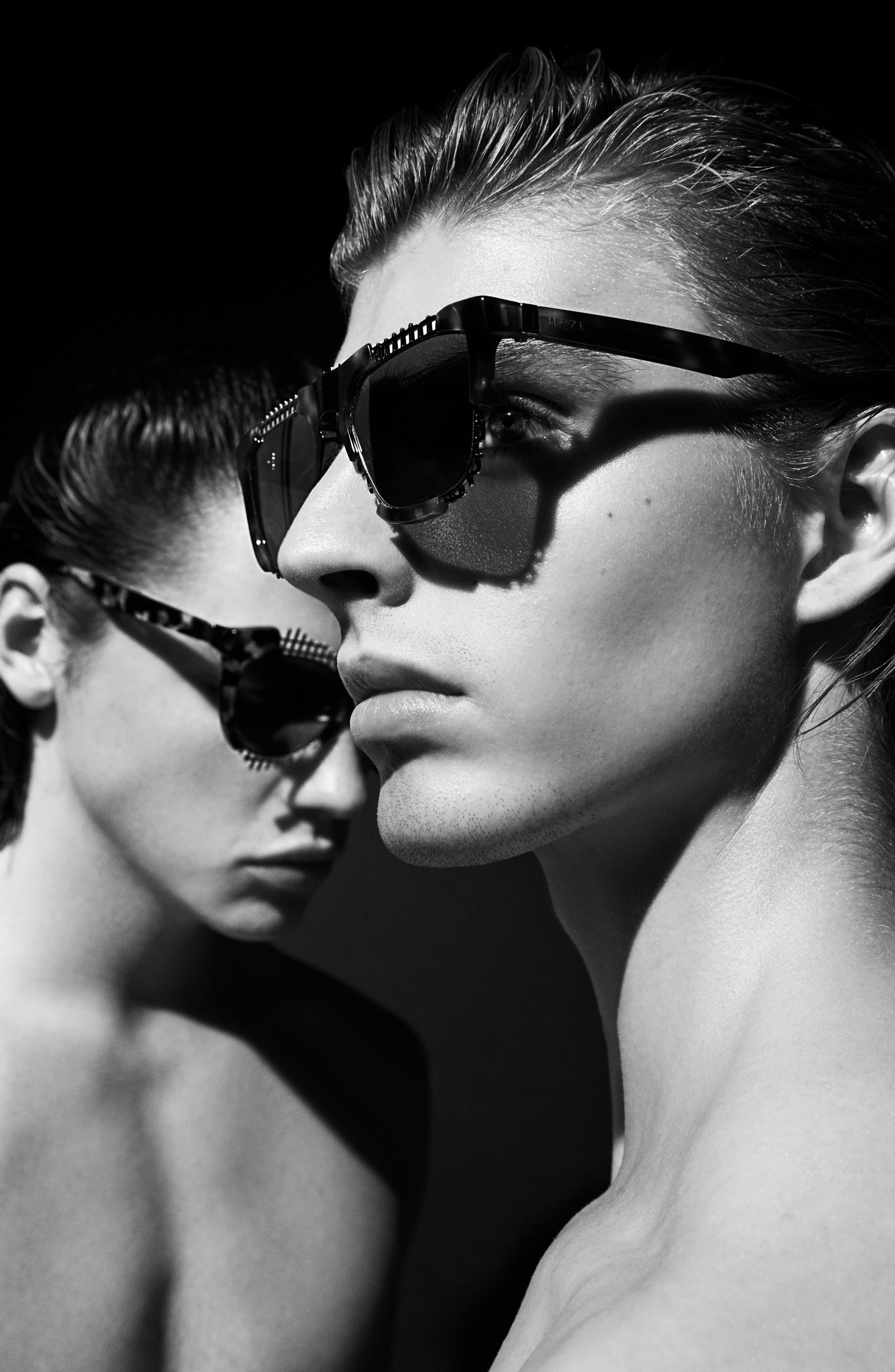 Coz 55mm Square Sunglasses,                             Alternate thumbnail 3, color,                             001