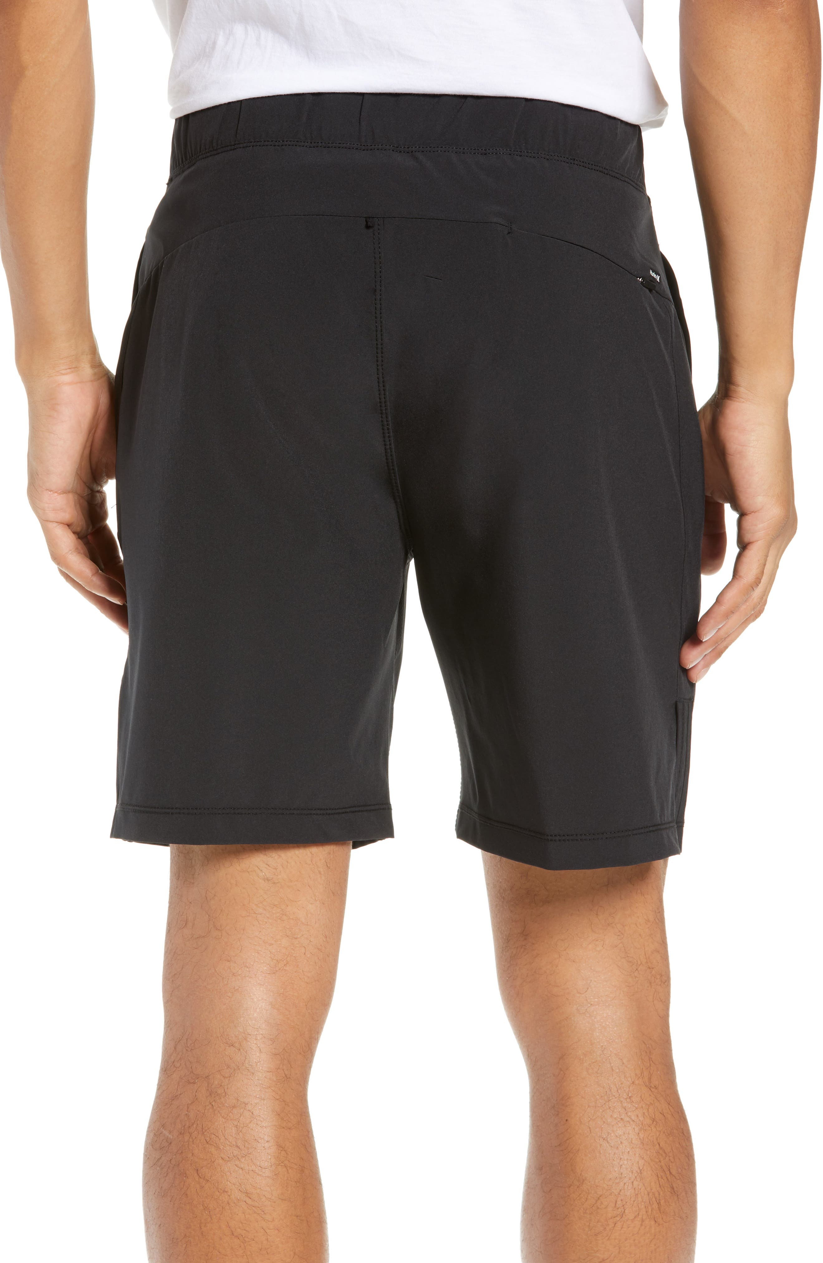 Alpha Trainer 2.0 Recycled Polyester Shorts,                             Alternate thumbnail 2, color,                             BLACK