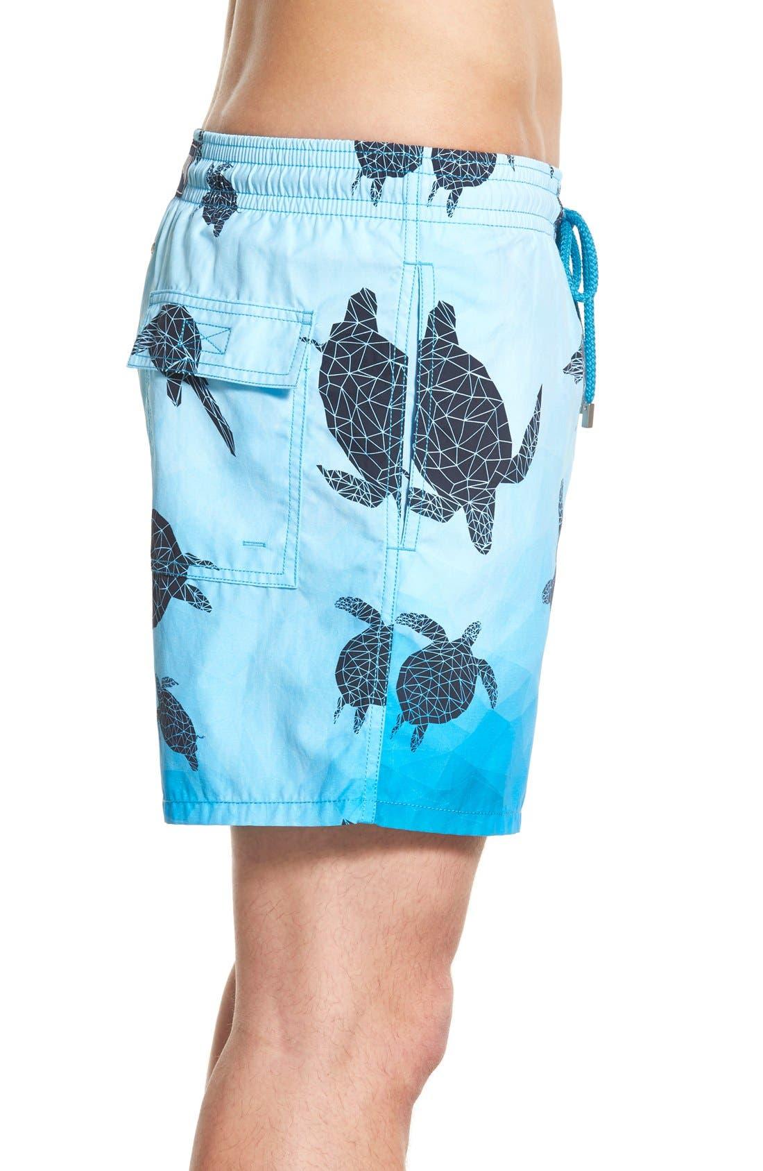 'Moorea - 3D Turtles' Swim Trunks,                             Alternate thumbnail 3, color,                             401