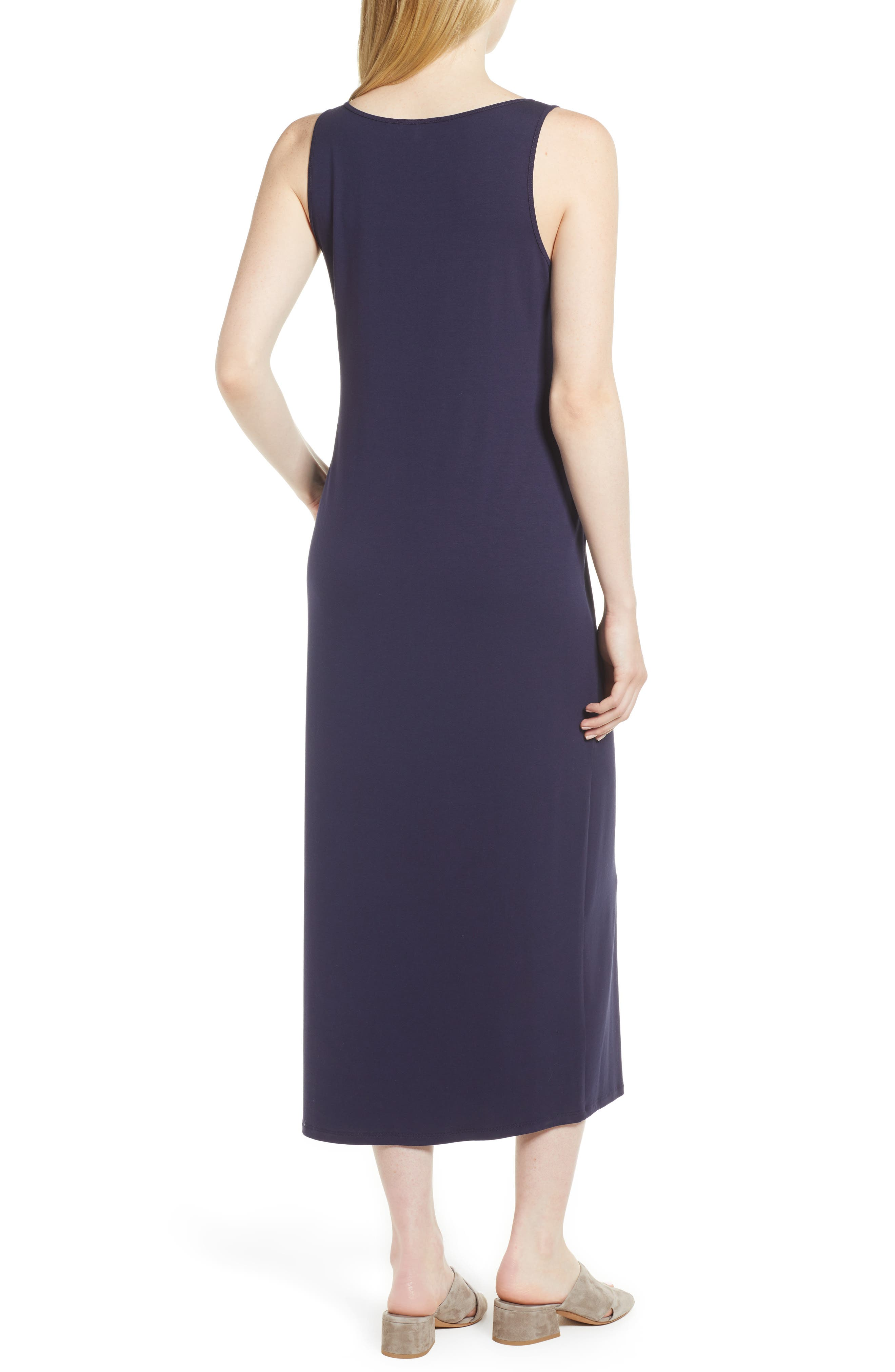 Midi Tank Dress,                             Alternate thumbnail 2, color,                             MIDNIGHT