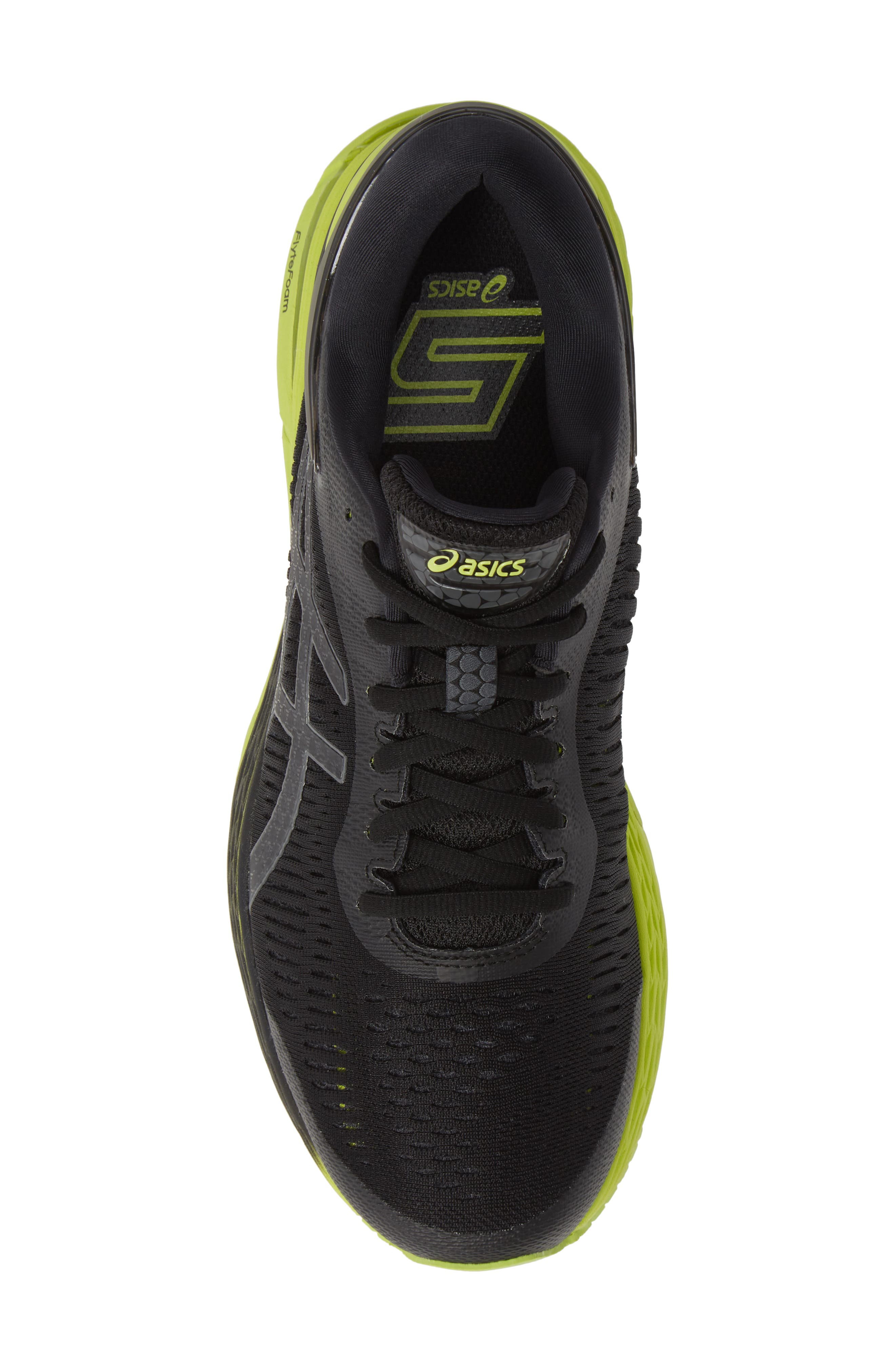 GEL-Kayano<sup>®</sup> 25 Running Shoe,                             Alternate thumbnail 5, color,                             BLACK/ NEON LIME