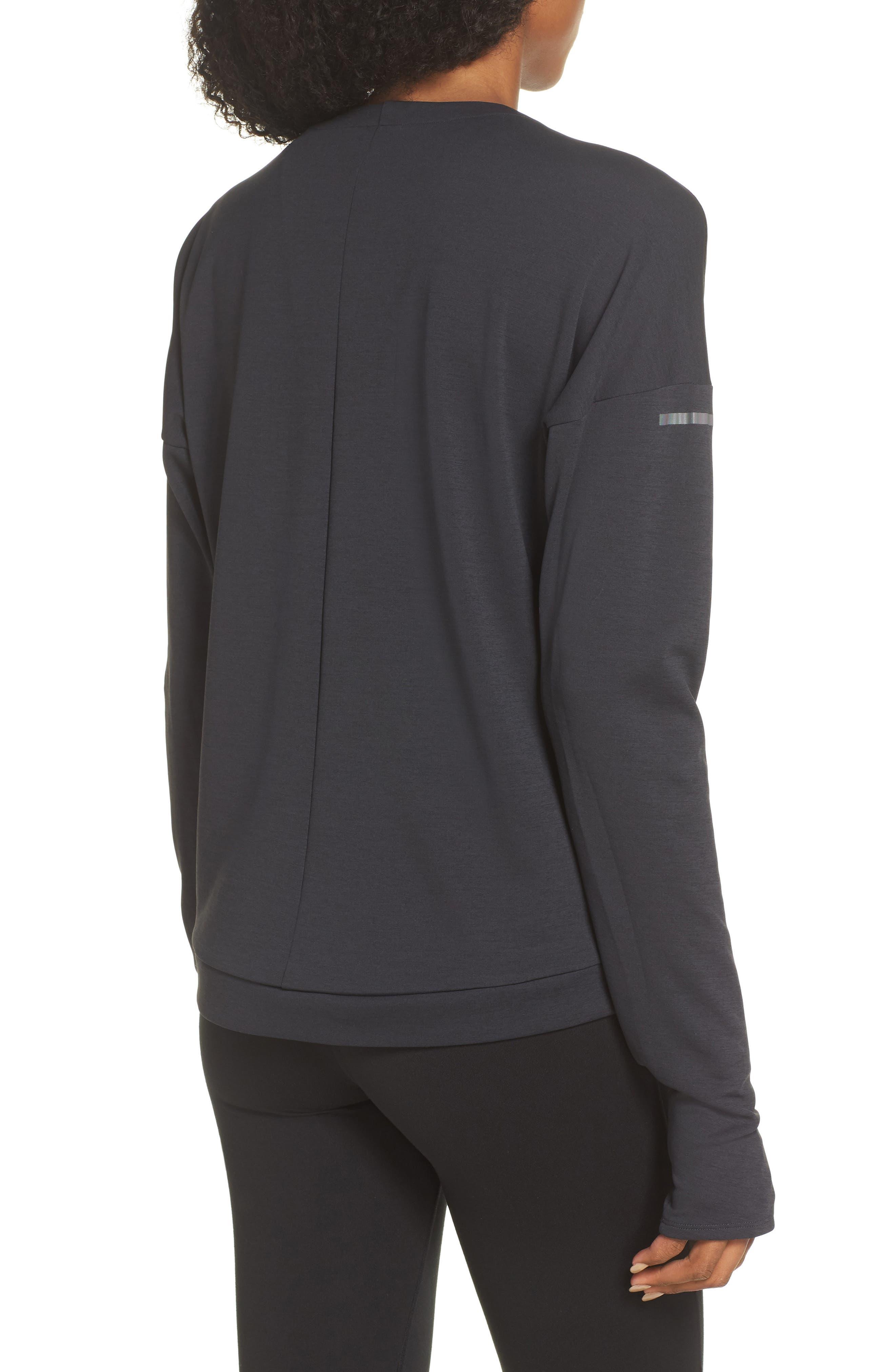 Supernova Run Sweatshirt,                             Alternate thumbnail 2, color,                             BLACK/ COLORED HEATHER