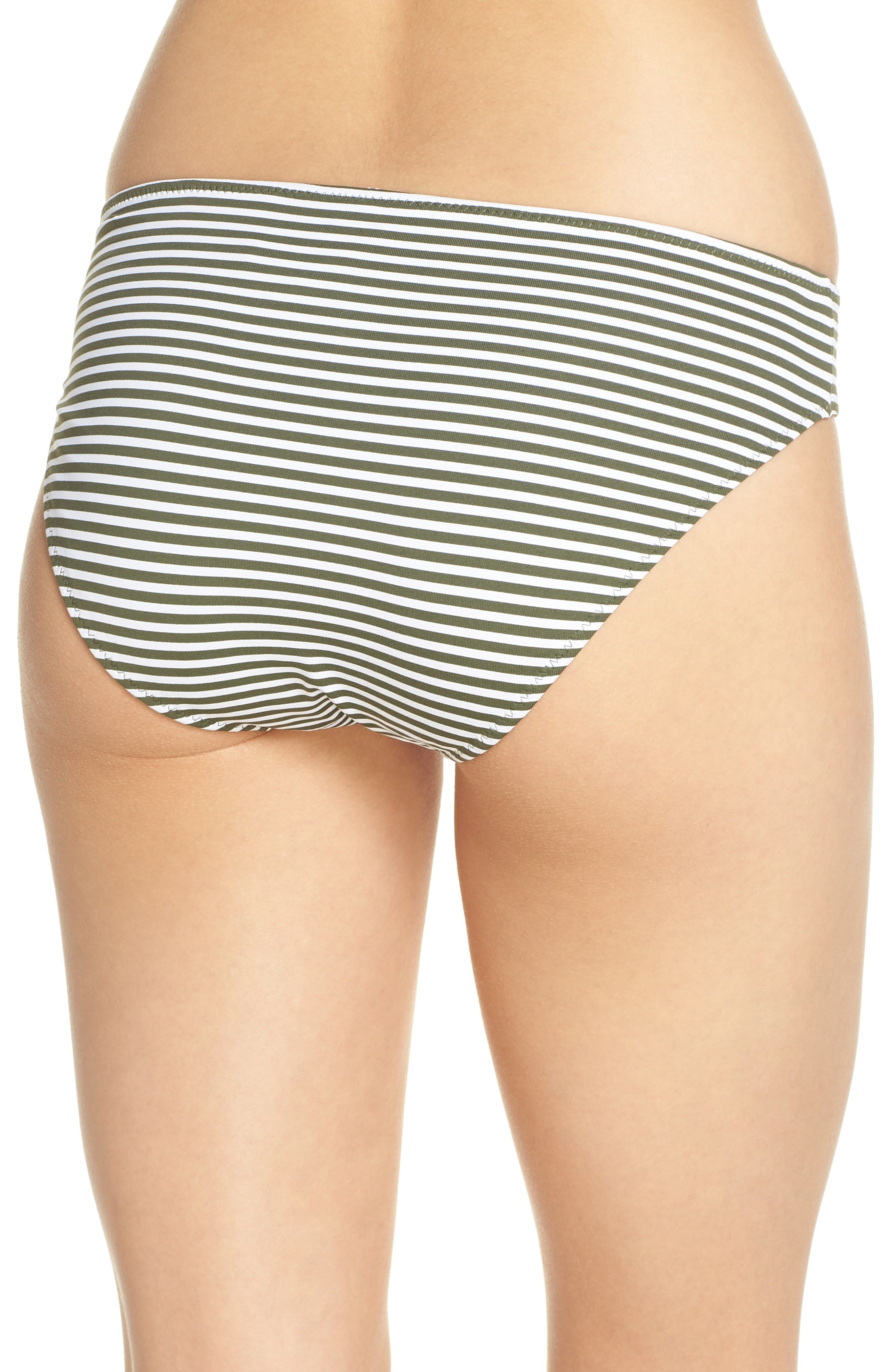 Reversible Hipster Bikini Bottoms,                             Alternate thumbnail 3, color,                             DARK TEA LEAF