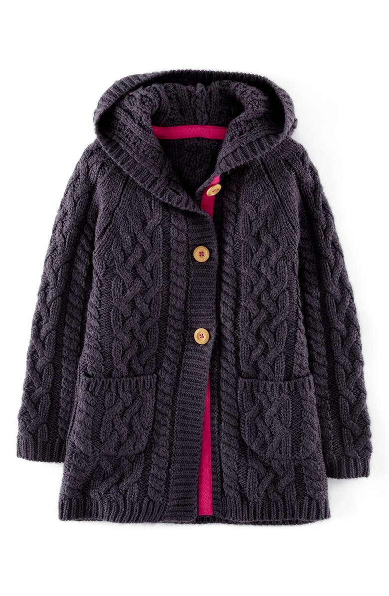 22dc2002d Mini Boden Long Cable Cardigan (Toddler Girls