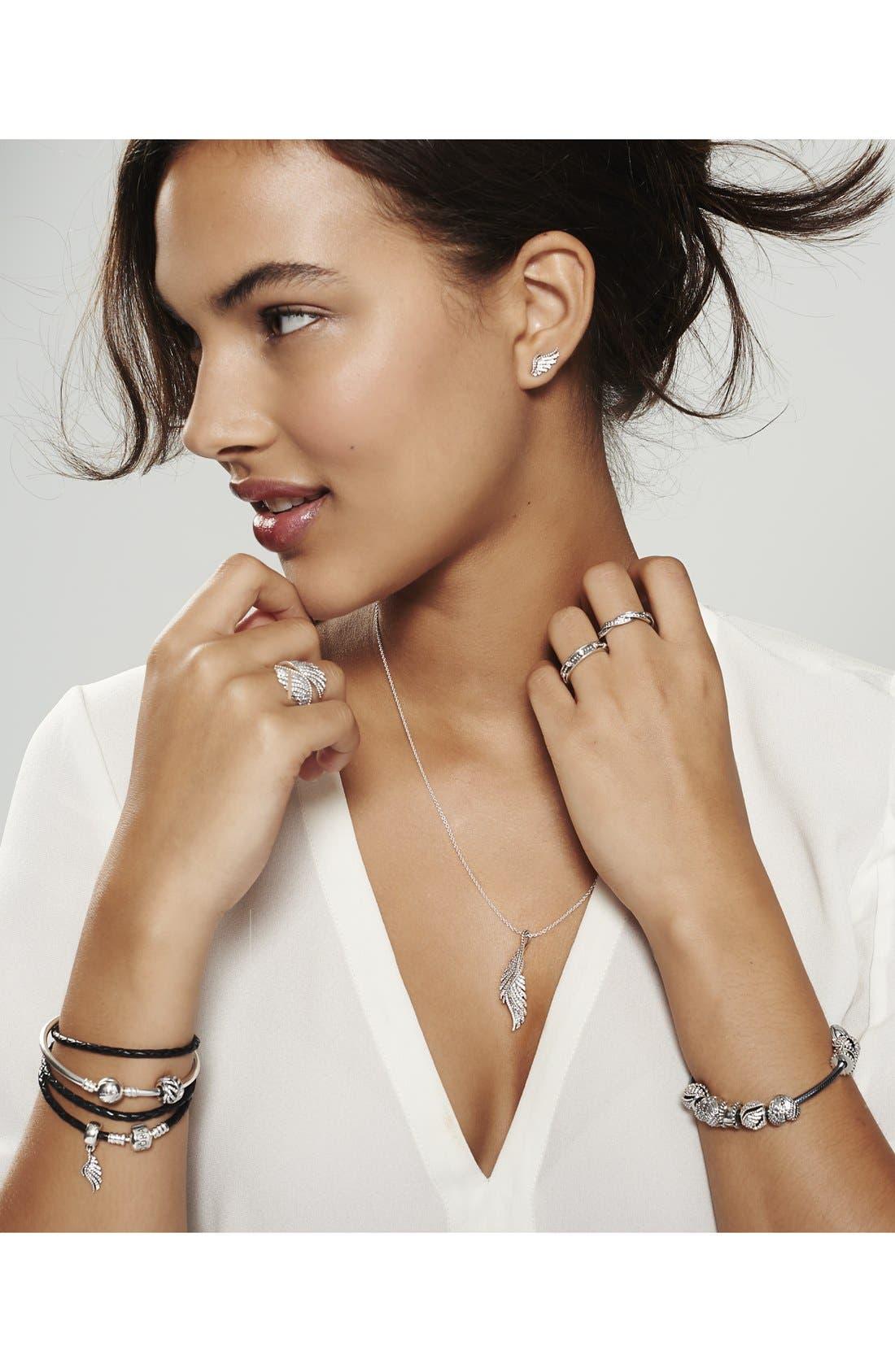 Oxidized Sterling Silver Charm Bracelet,                             Alternate thumbnail 6, color,
