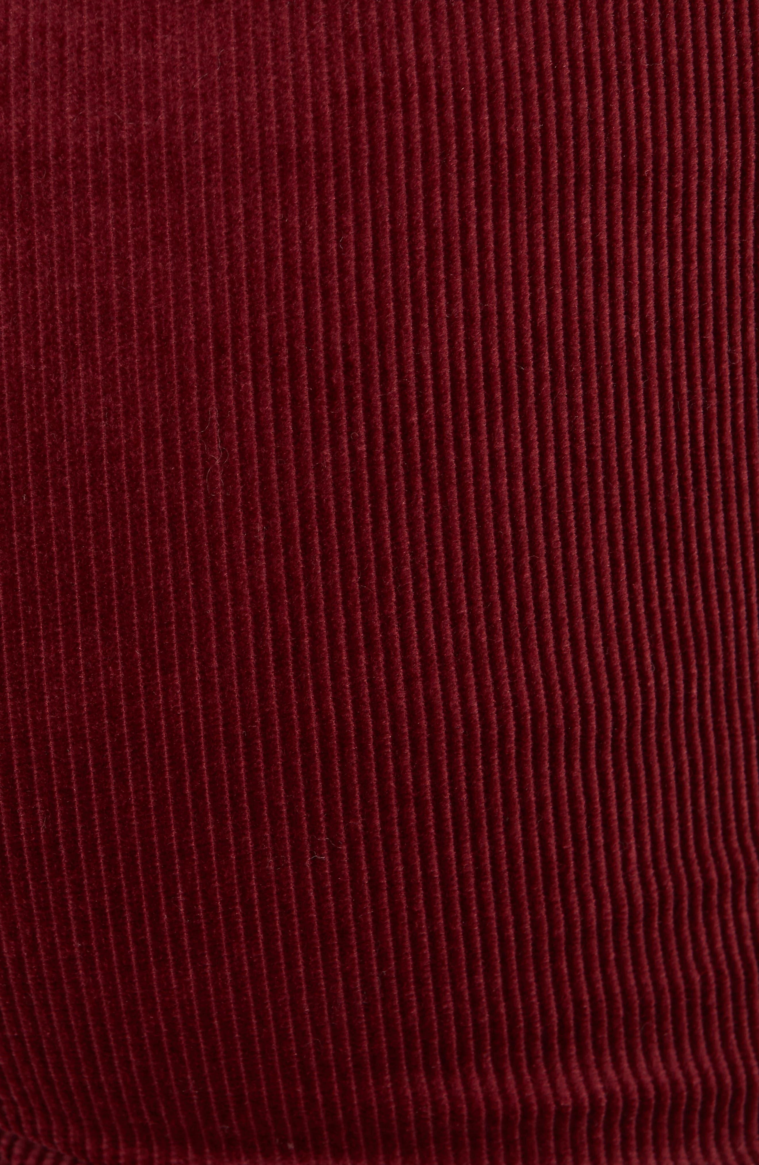 Marcena Velvet Crop Flared Pants,                             Alternate thumbnail 5, color,                             BLACKBERRY