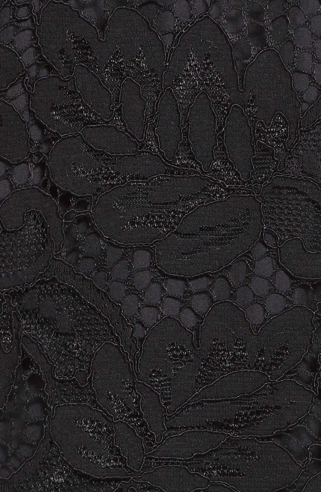 'Jacqueline' Lace Shift Dress,                             Alternate thumbnail 10, color,                             BLACK