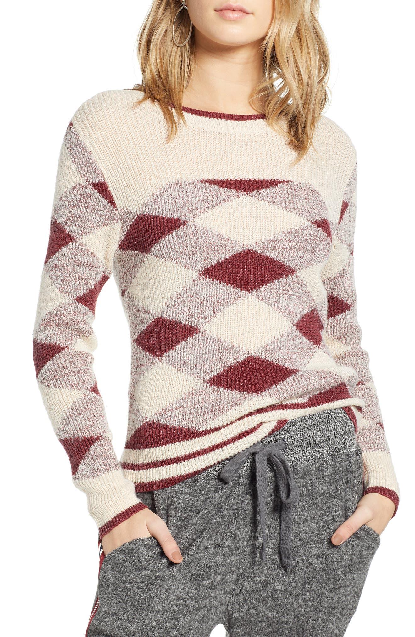 Treasure & Bond Argyle Sweater, Beige