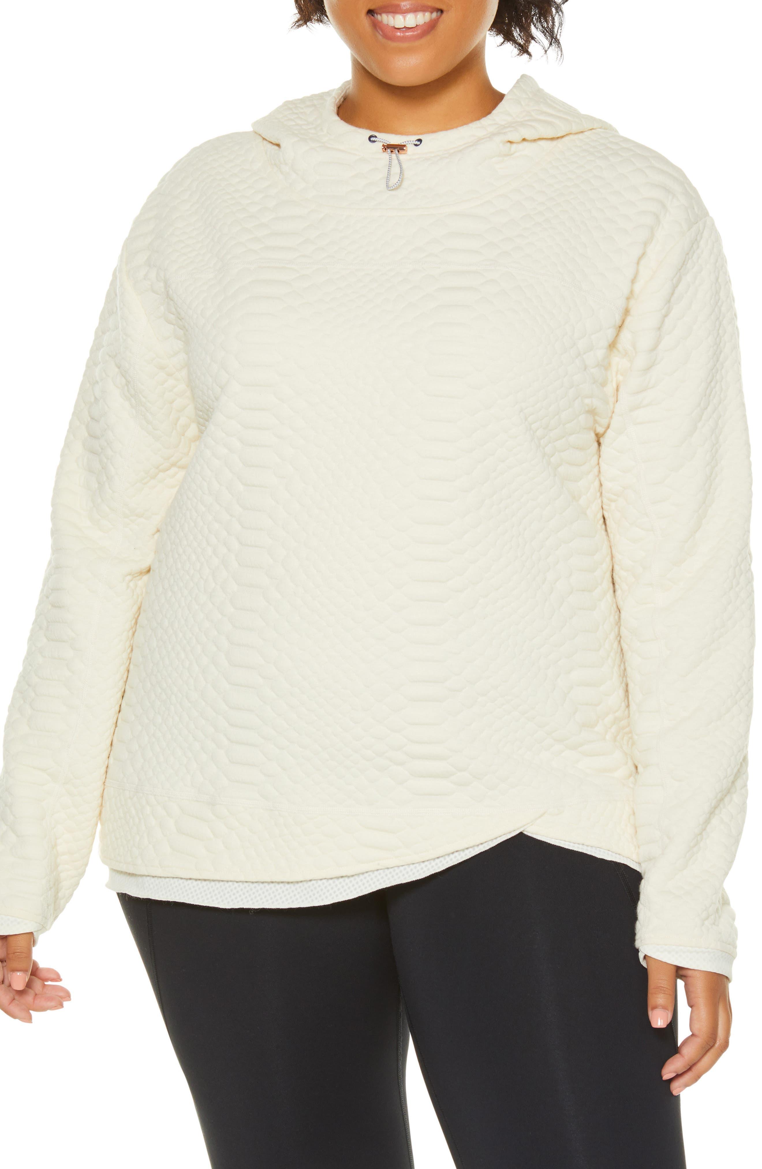 Plus Size Shape Activewear Restore Hoodie, White