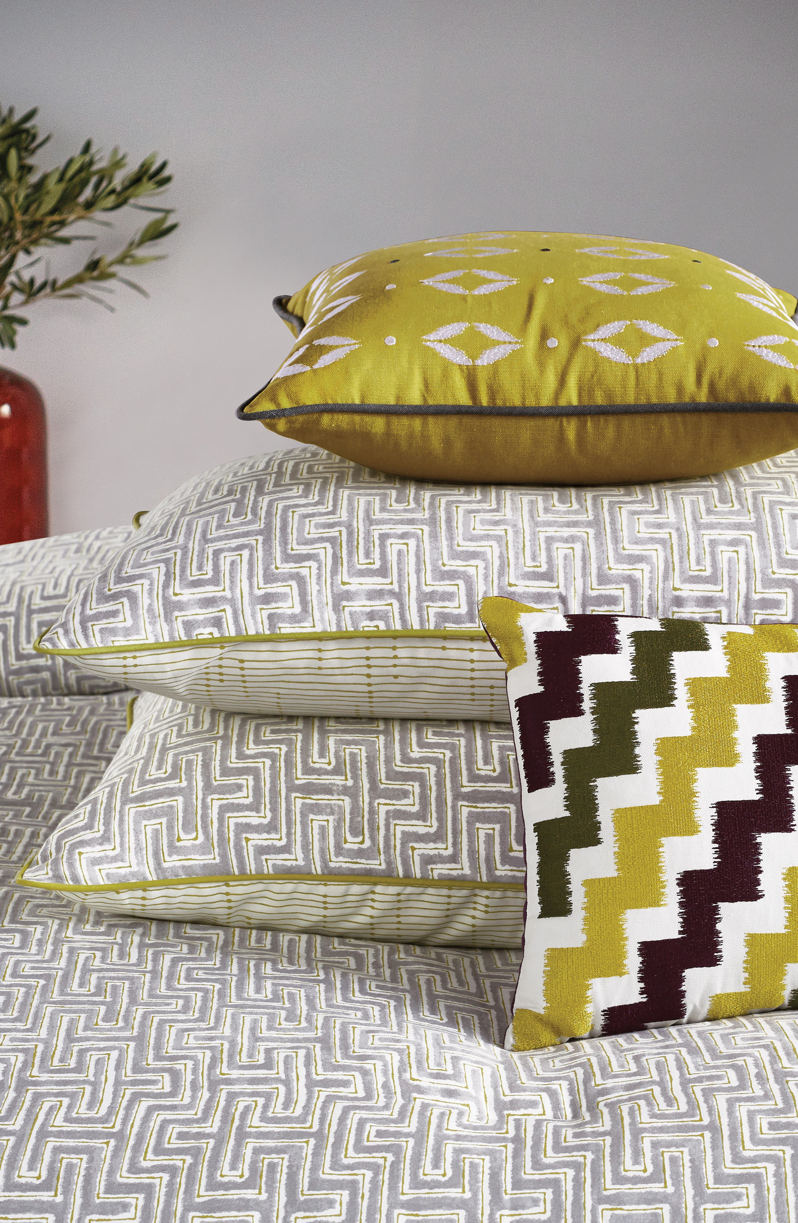 BEDECK,                             Koba Comforter, Sham & Accent Pillow Set,                             Alternate thumbnail 5, color,                             LIGHT GREY