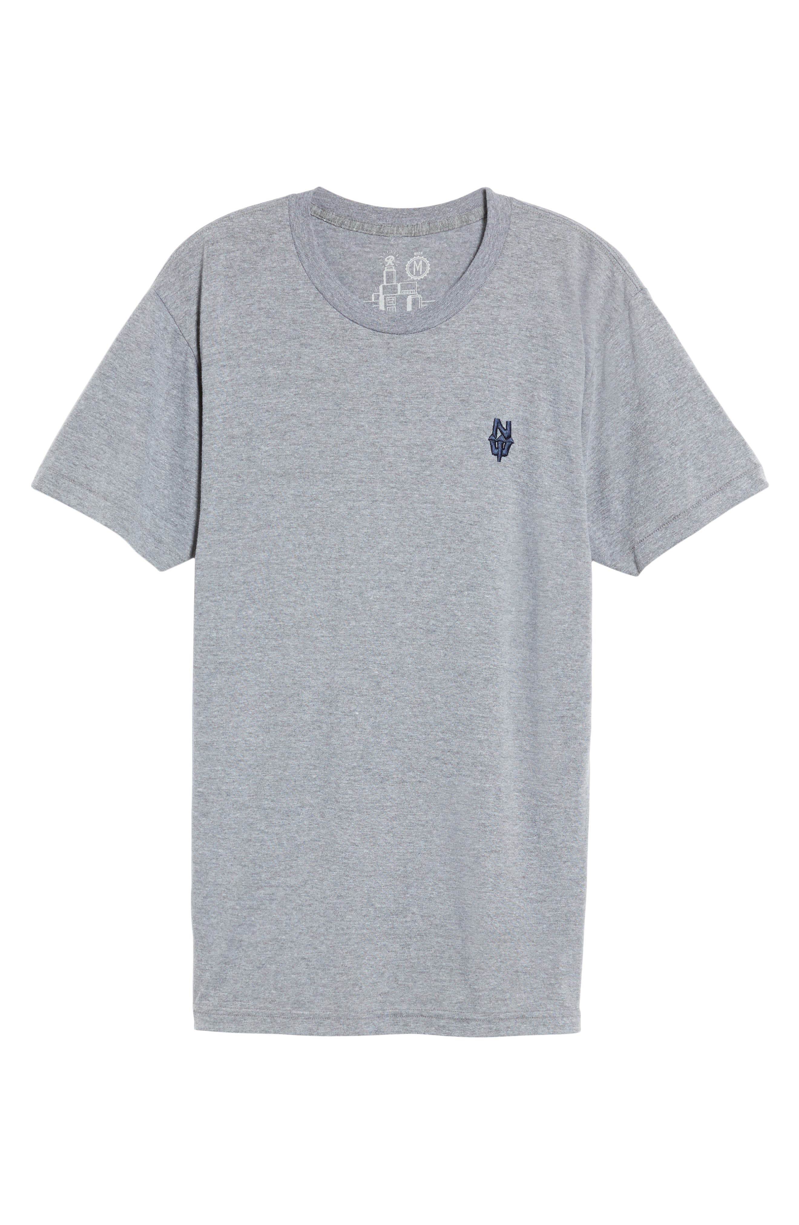 NW Trident Embroidered T-Shirt,                             Alternate thumbnail 17, color,