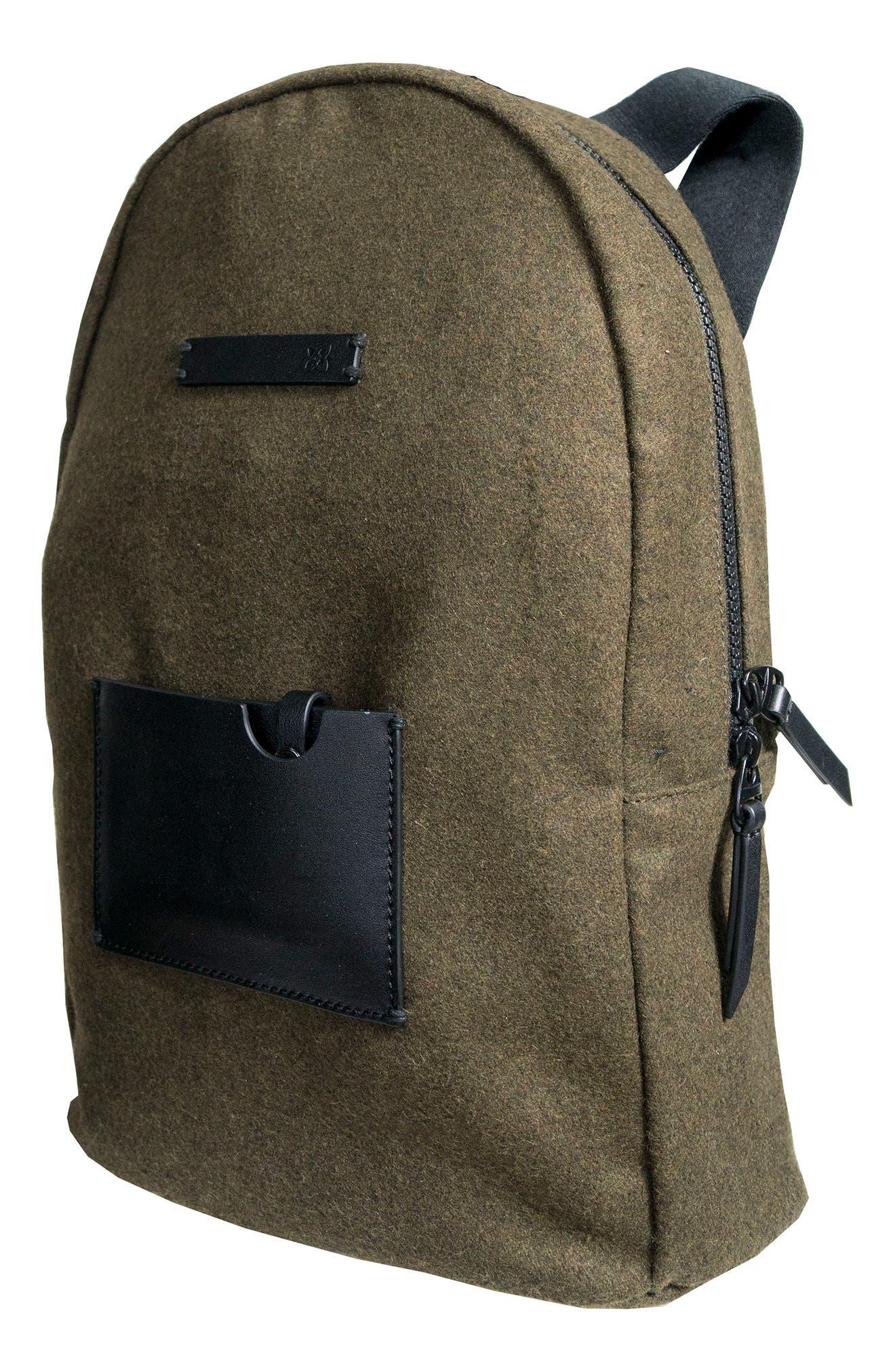 Indie Boiled Wool Backpack,                             Alternate thumbnail 15, color,