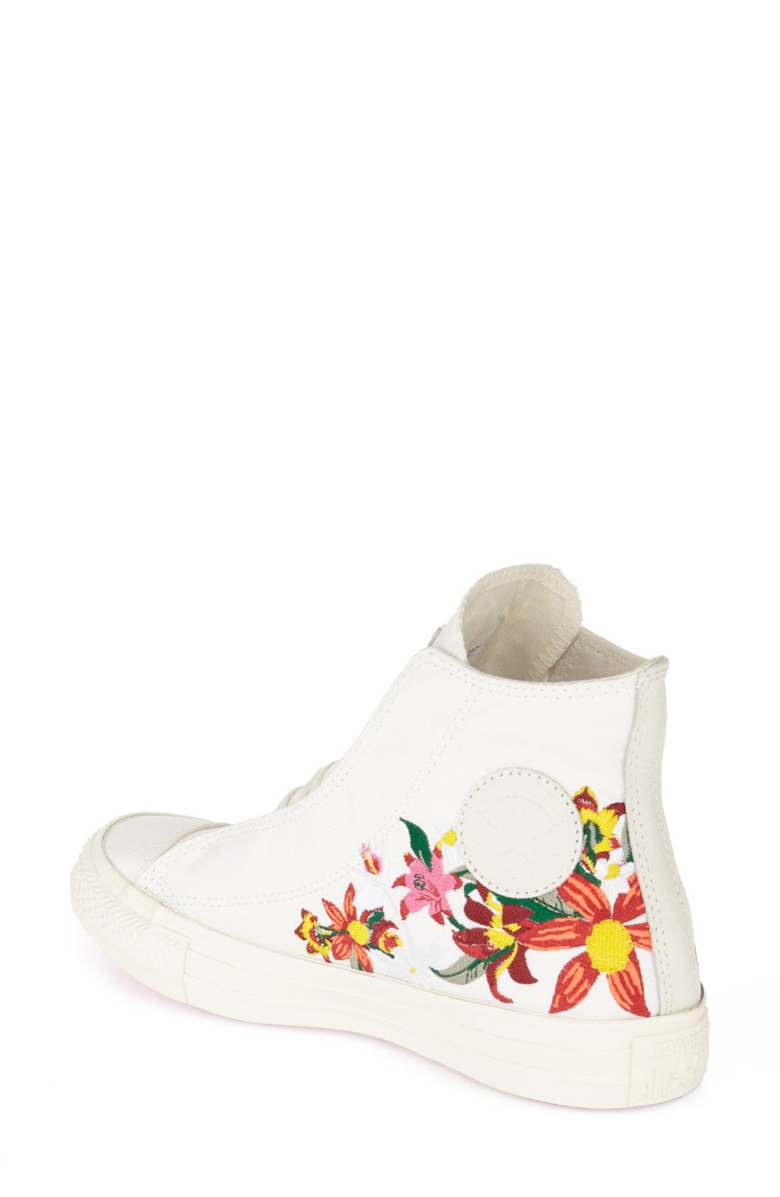 Chuck Taylor<sup>®</sup> All Star<sup>®</sup> 'Patbo' Floral High Top Sneaker,                             Alternate thumbnail 3, color,                             100